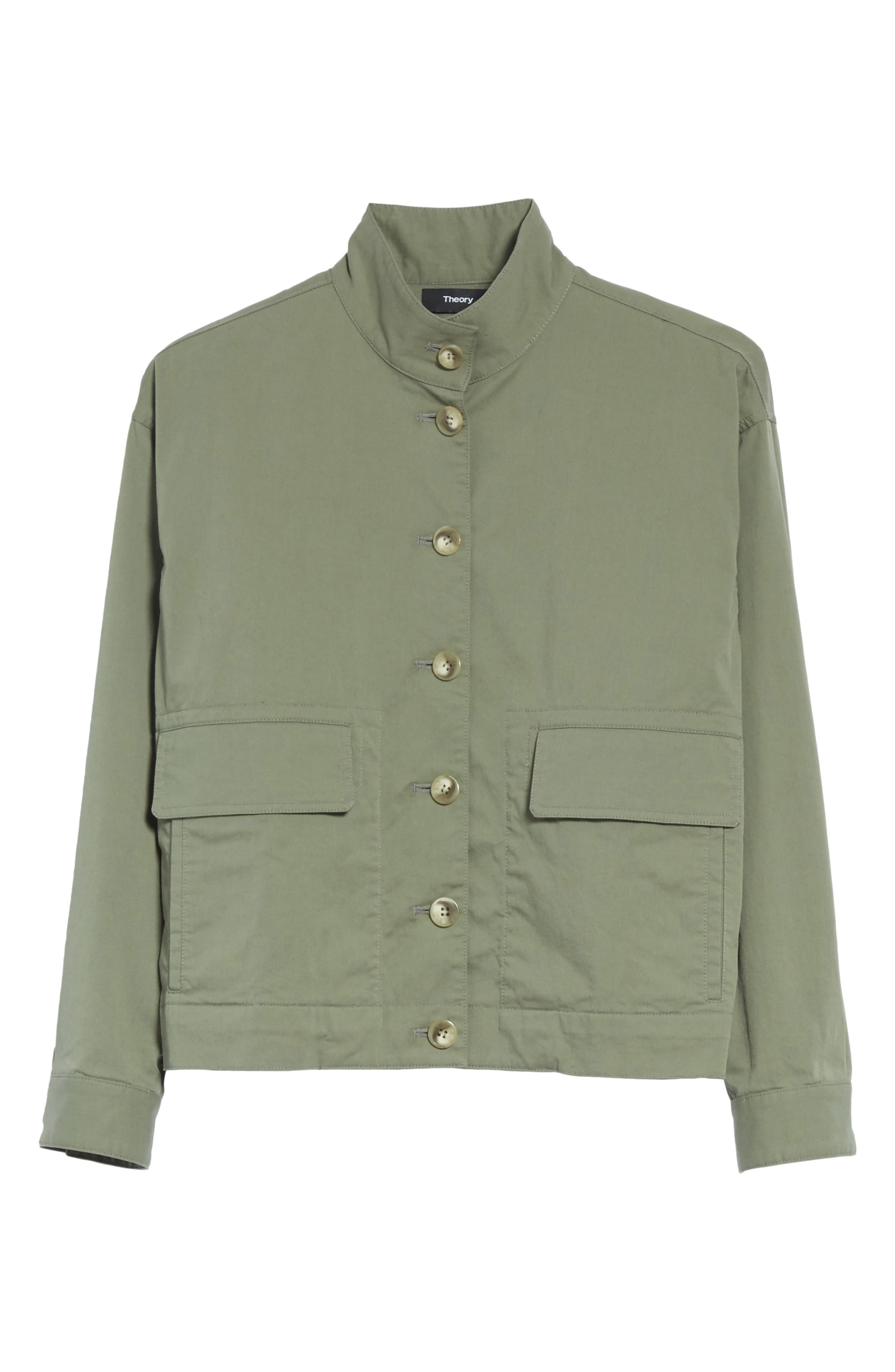 Blouson Bomber Jacket,                             Alternate thumbnail 6, color,                             Faded Army