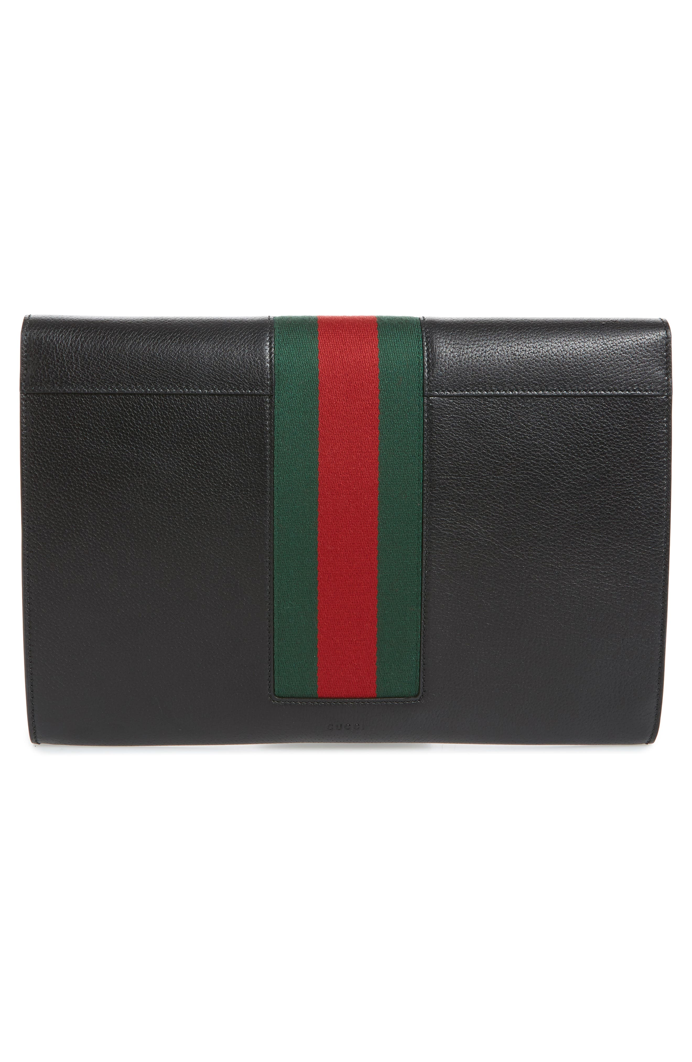Alternate Image 3  - Gucci Totem Crystal Embellished Butterfly Leather Clutch