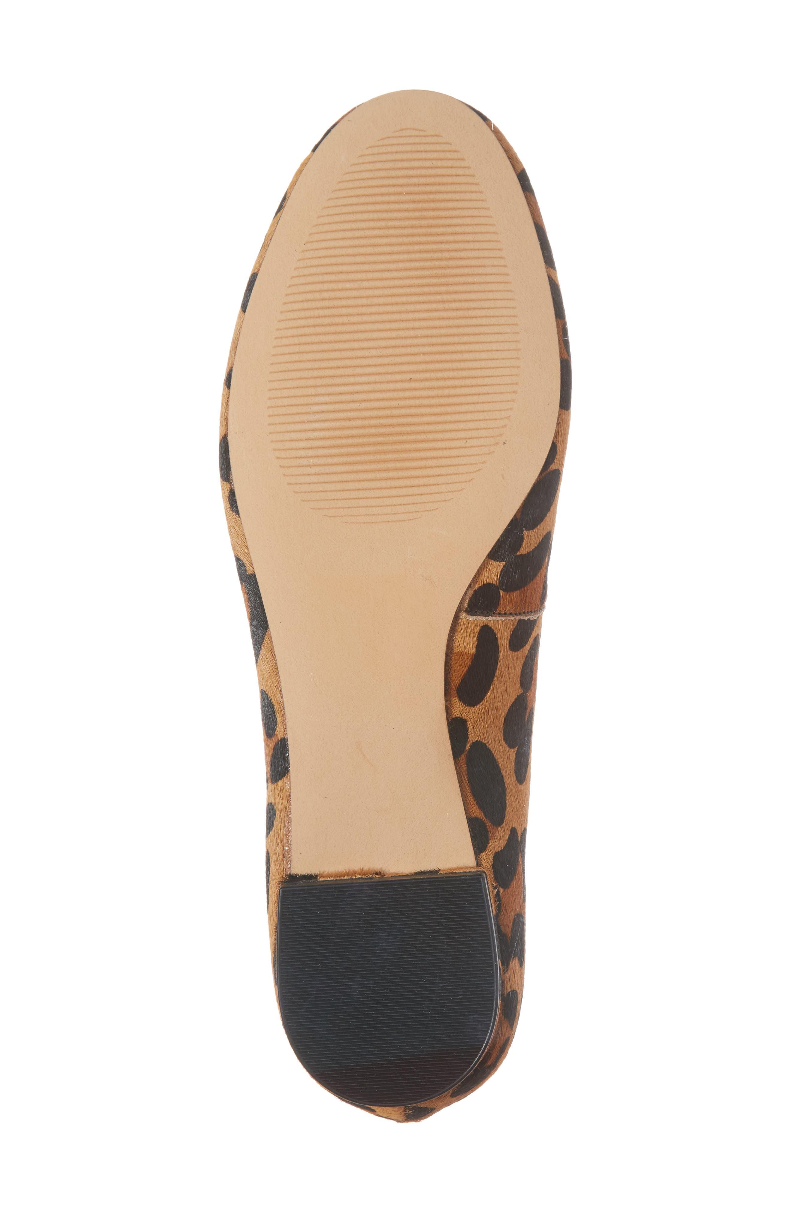 Pamella Ballet Flat,                             Alternate thumbnail 6, color,                             Leopard