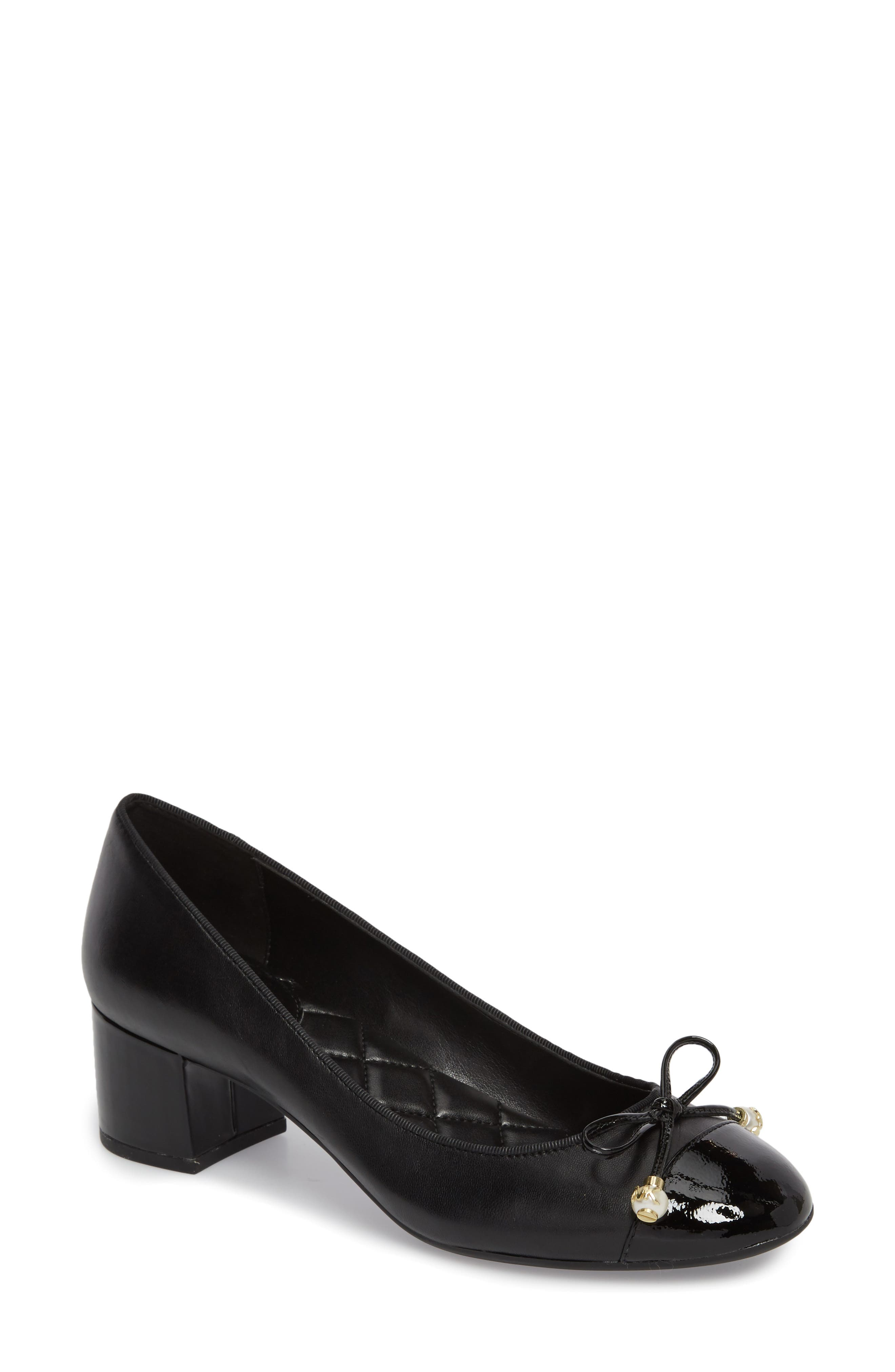 Gia Pump,                             Main thumbnail 1, color,                             Black Nappa Leather