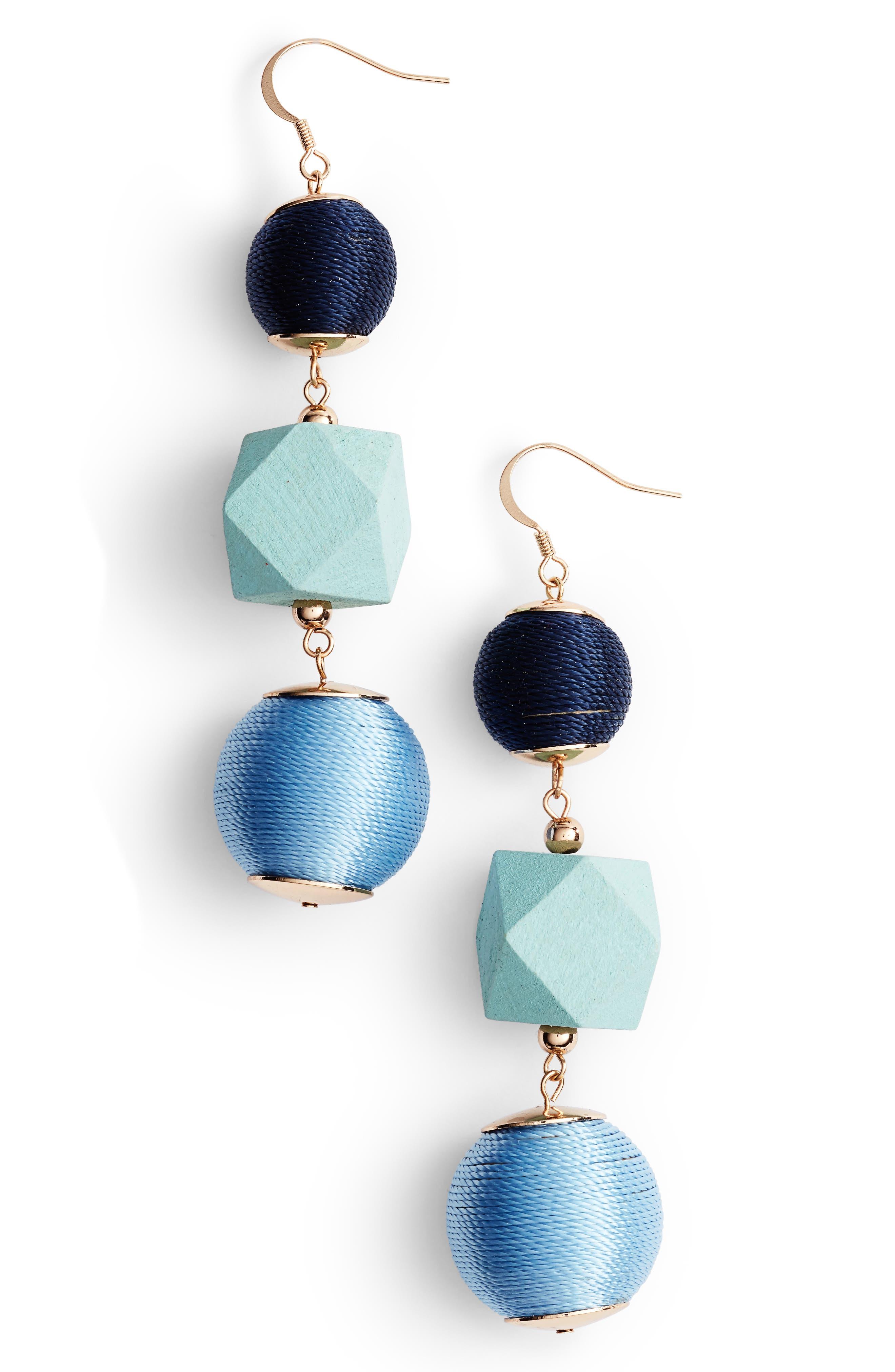 Geo Sphere Drop Earrings,                         Main,                         color, Blue Multi