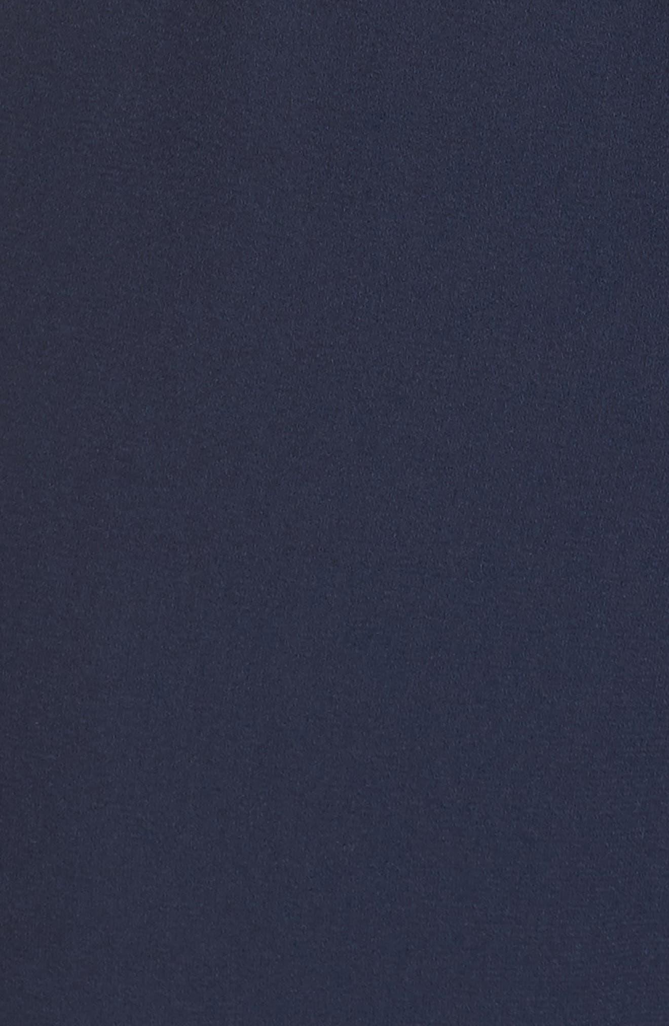 Ruffle Off the Shoulder Jumpsuit,                             Alternate thumbnail 5, color,                             Navy
