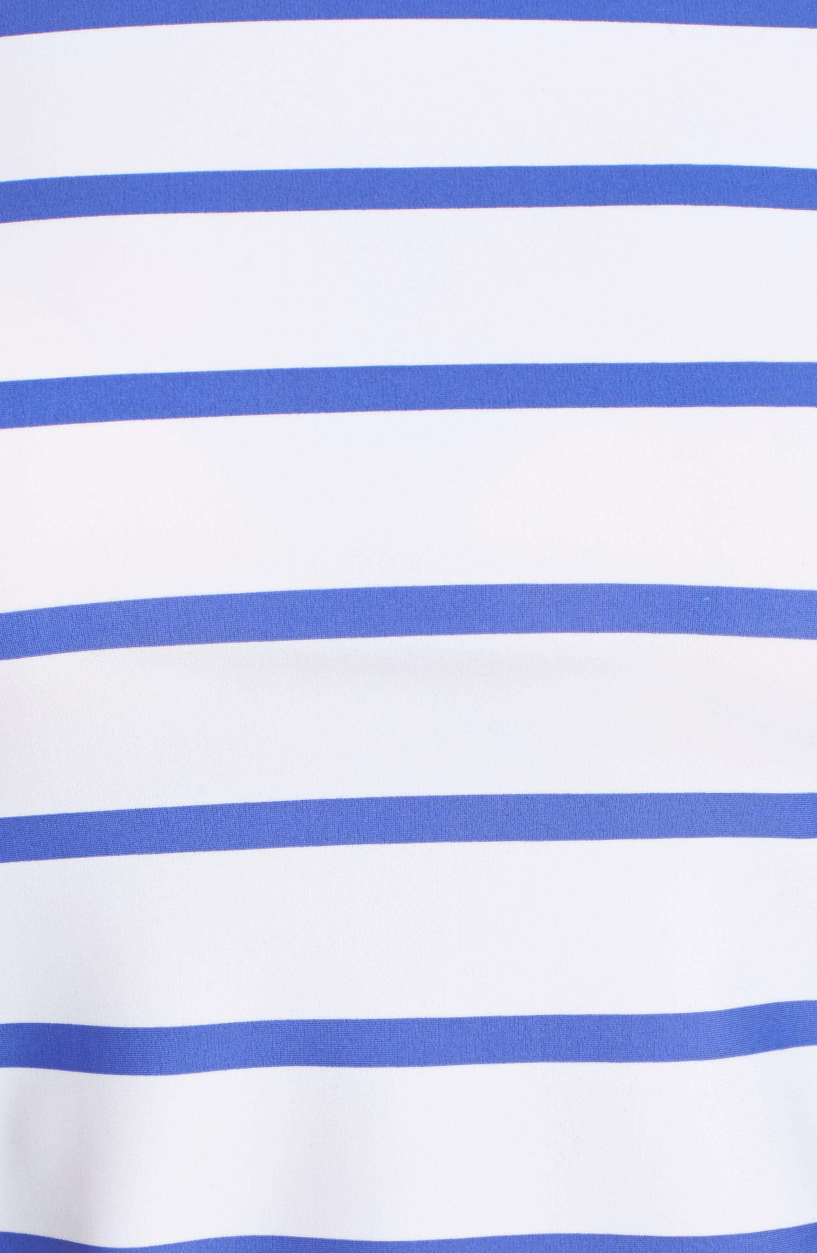 Zip Rashguard,                             Alternate thumbnail 5, color,                             Navy/ White