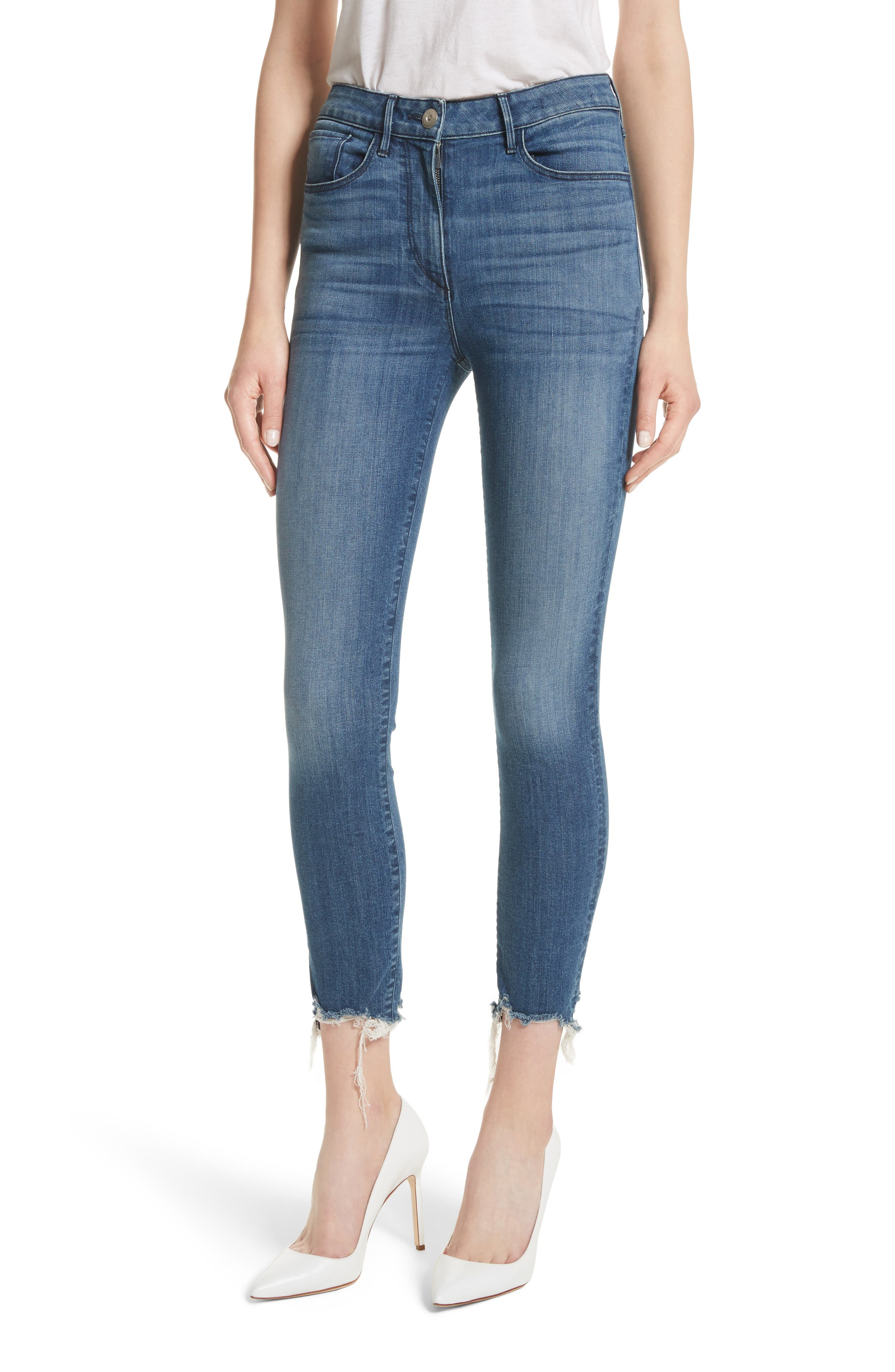 W3 Crop Skinny Jeans,                         Main,                         color, Remo