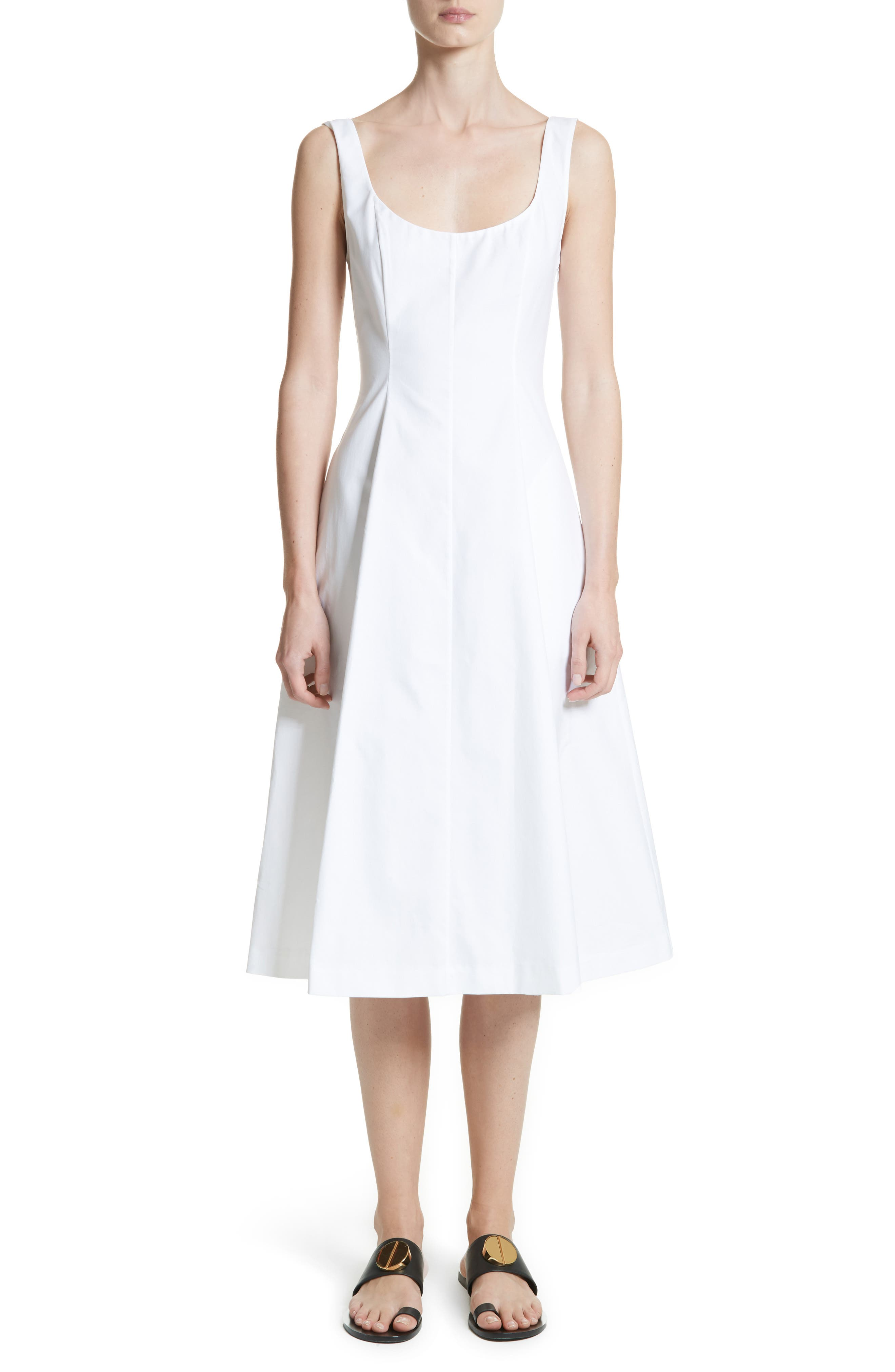 Cindy Poplin Tank Dress,                         Main,                         color, White