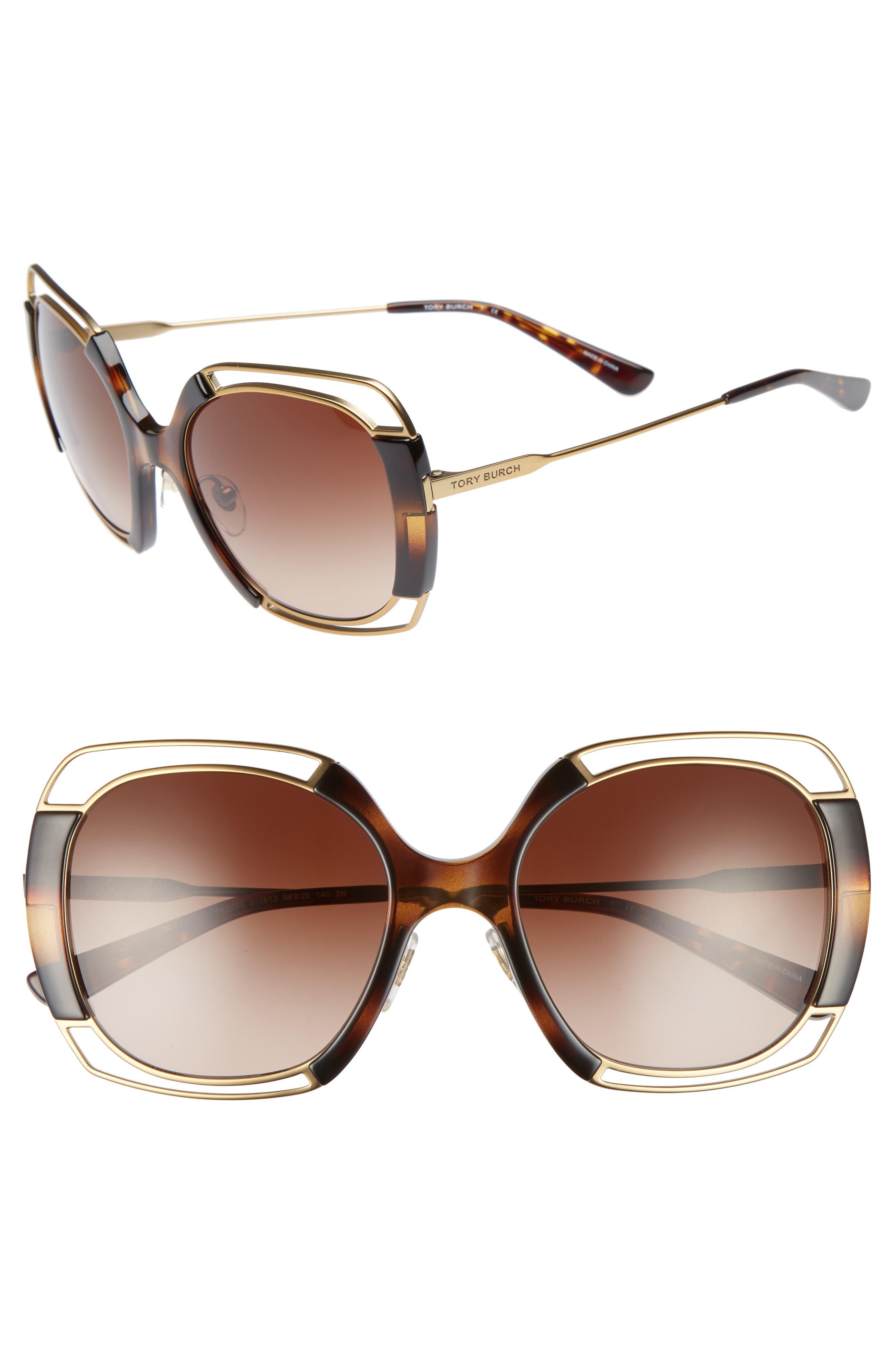 Tory Burch 54mm Square Gradient Sunglasses