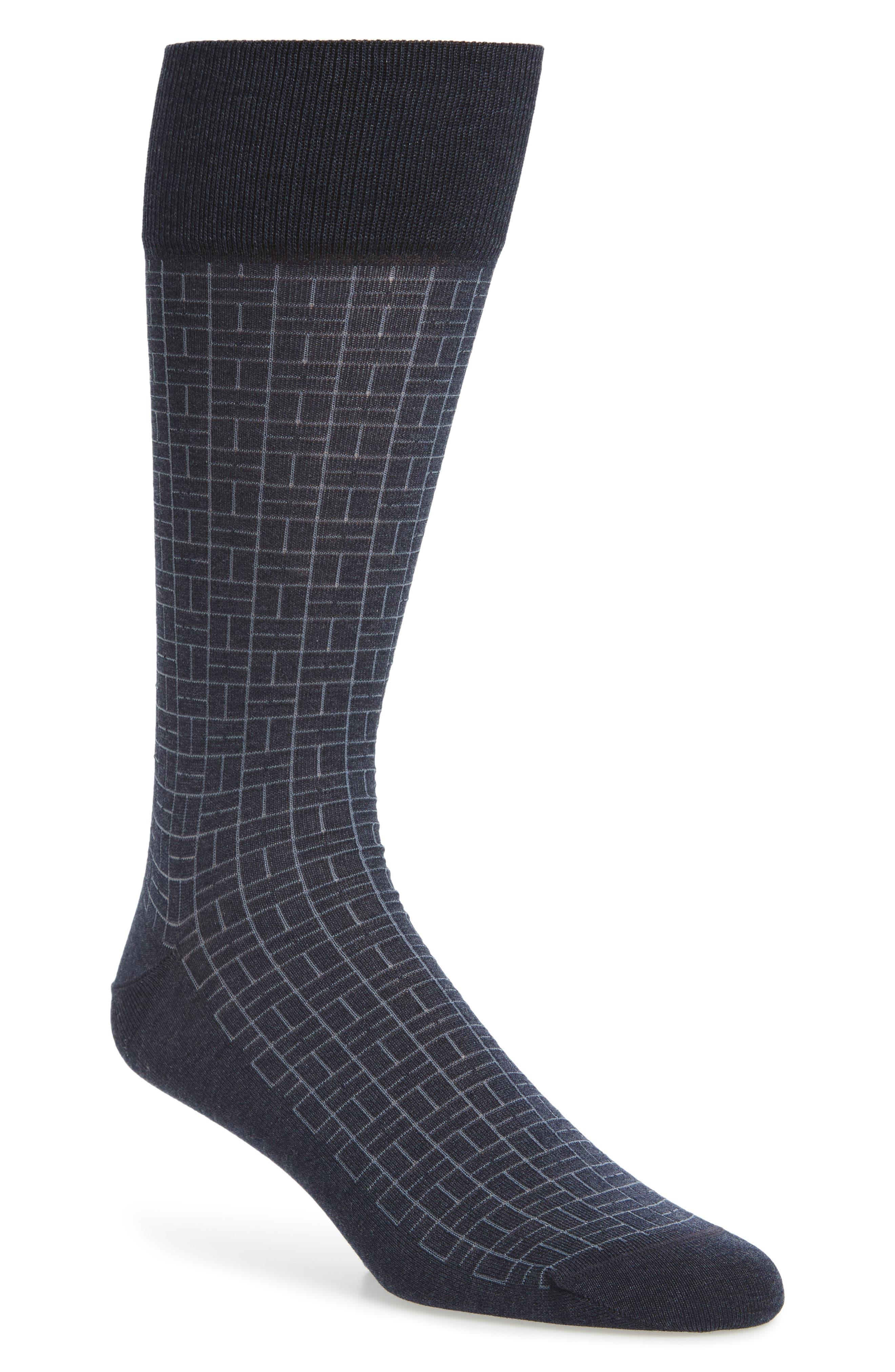 Domino Socks,                         Main,                         color, Blue Denim