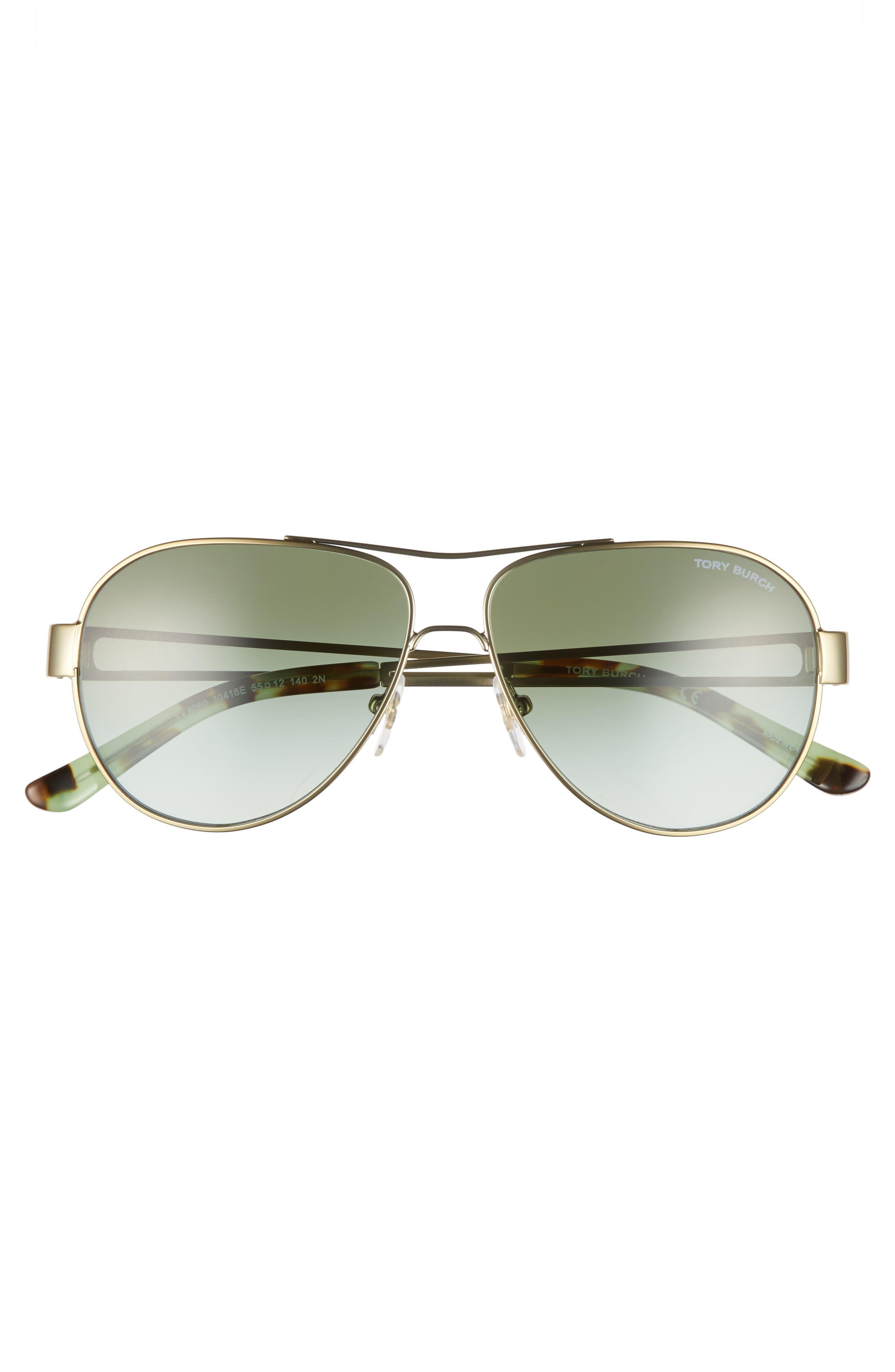 Alternate Image 3  - Tory Burch 55mm Polarized Aviator Sunglasses
