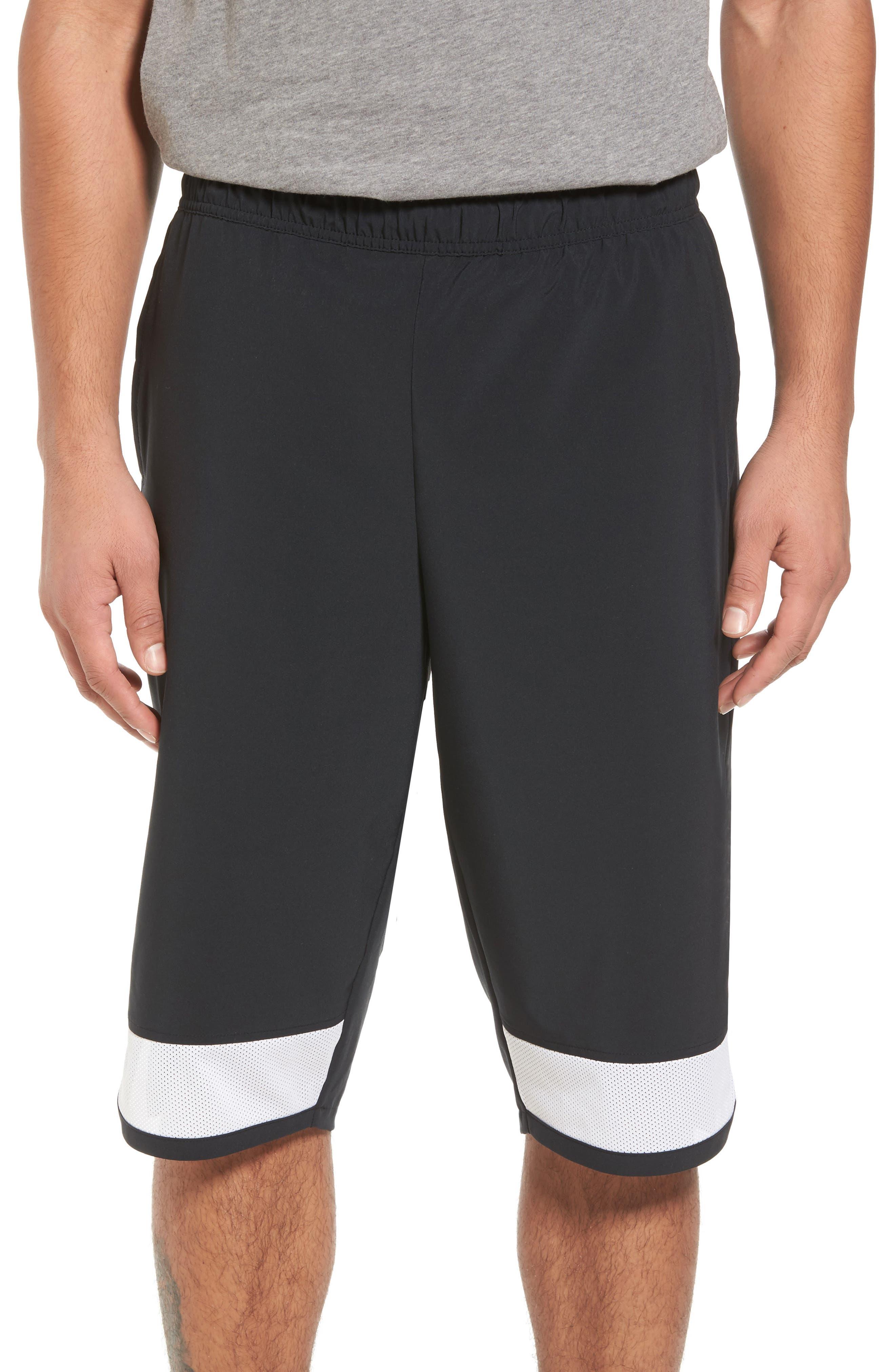 Training Flex PX Shorts,                             Main thumbnail 1, color,                             Black/ White/ White