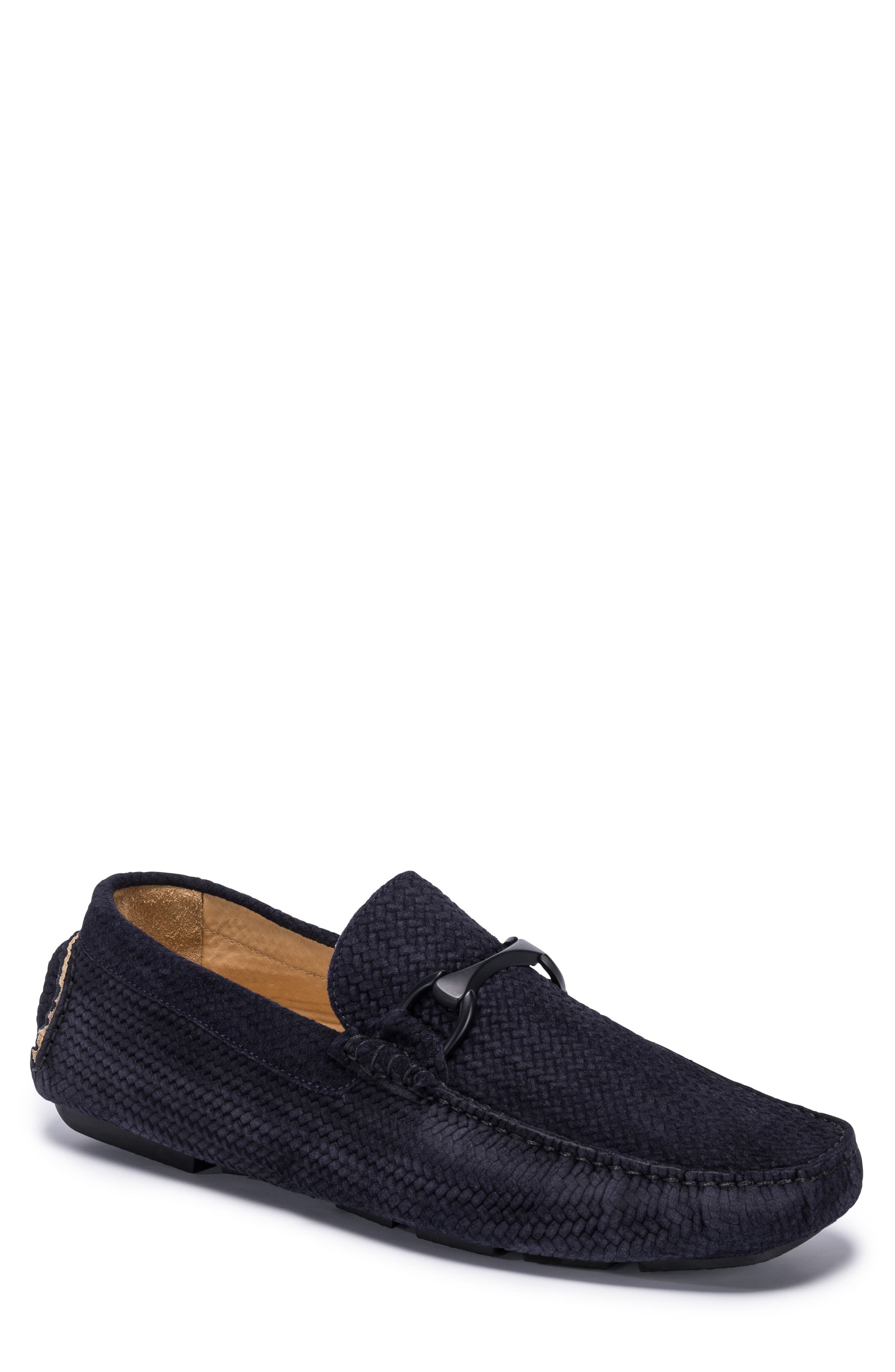 Amalfi Woven Bit Driving Loafer,                             Main thumbnail 1, color,                             Blue Suede
