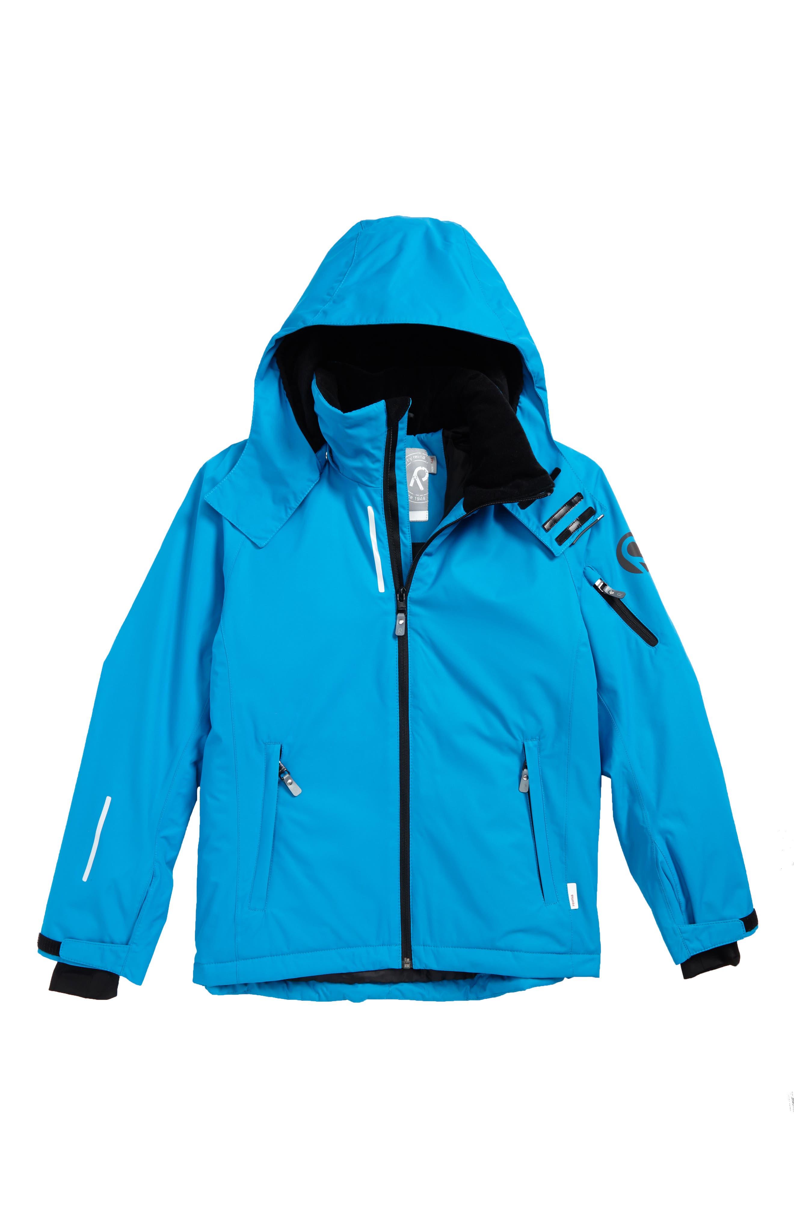 Reimatec<sup>®</sup> Detour Waterproof Hooded Jacket,                         Main,                         color, Blue