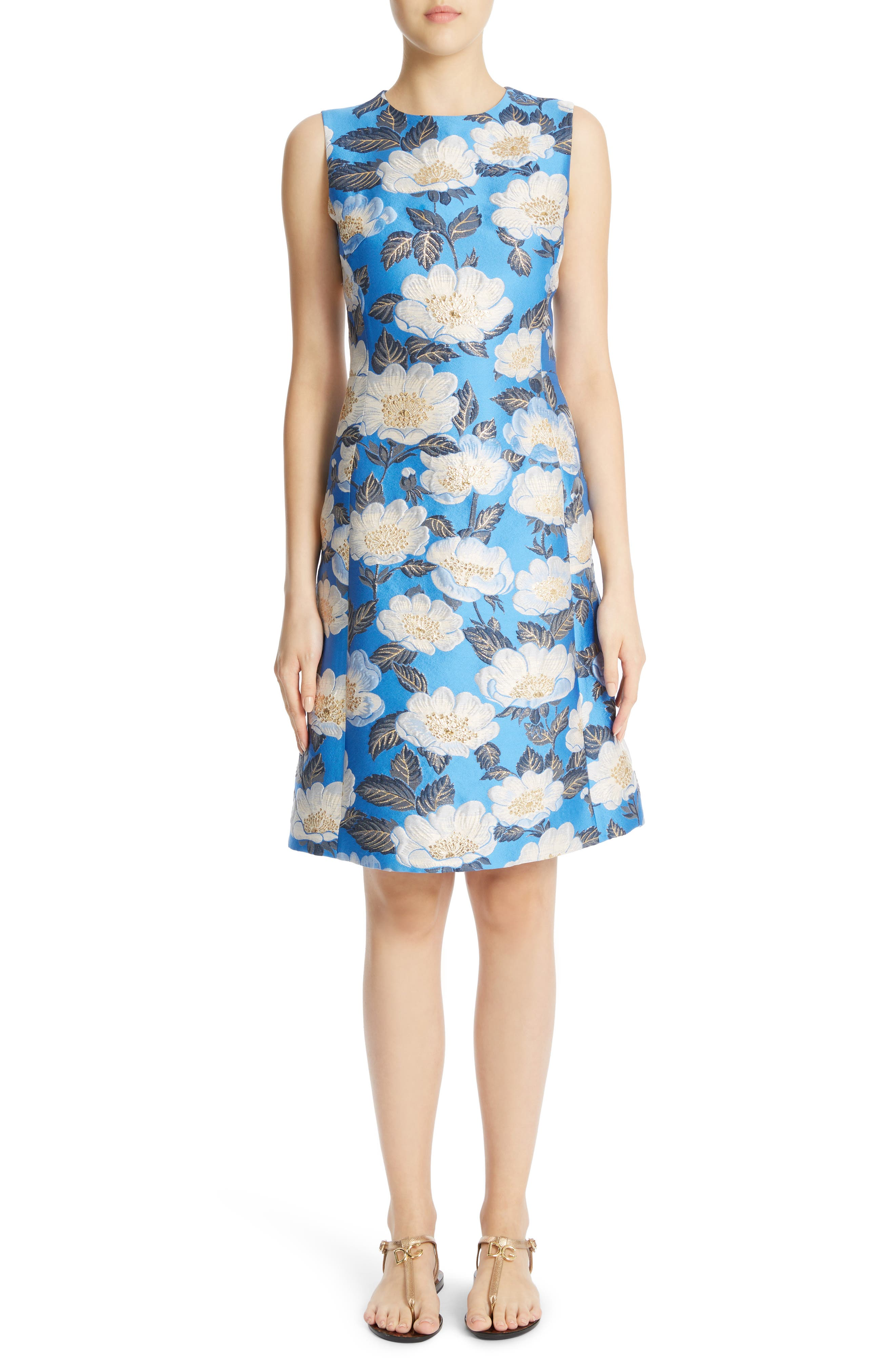 Main Image - Dolce&Gabbana Floral Brocade Dress