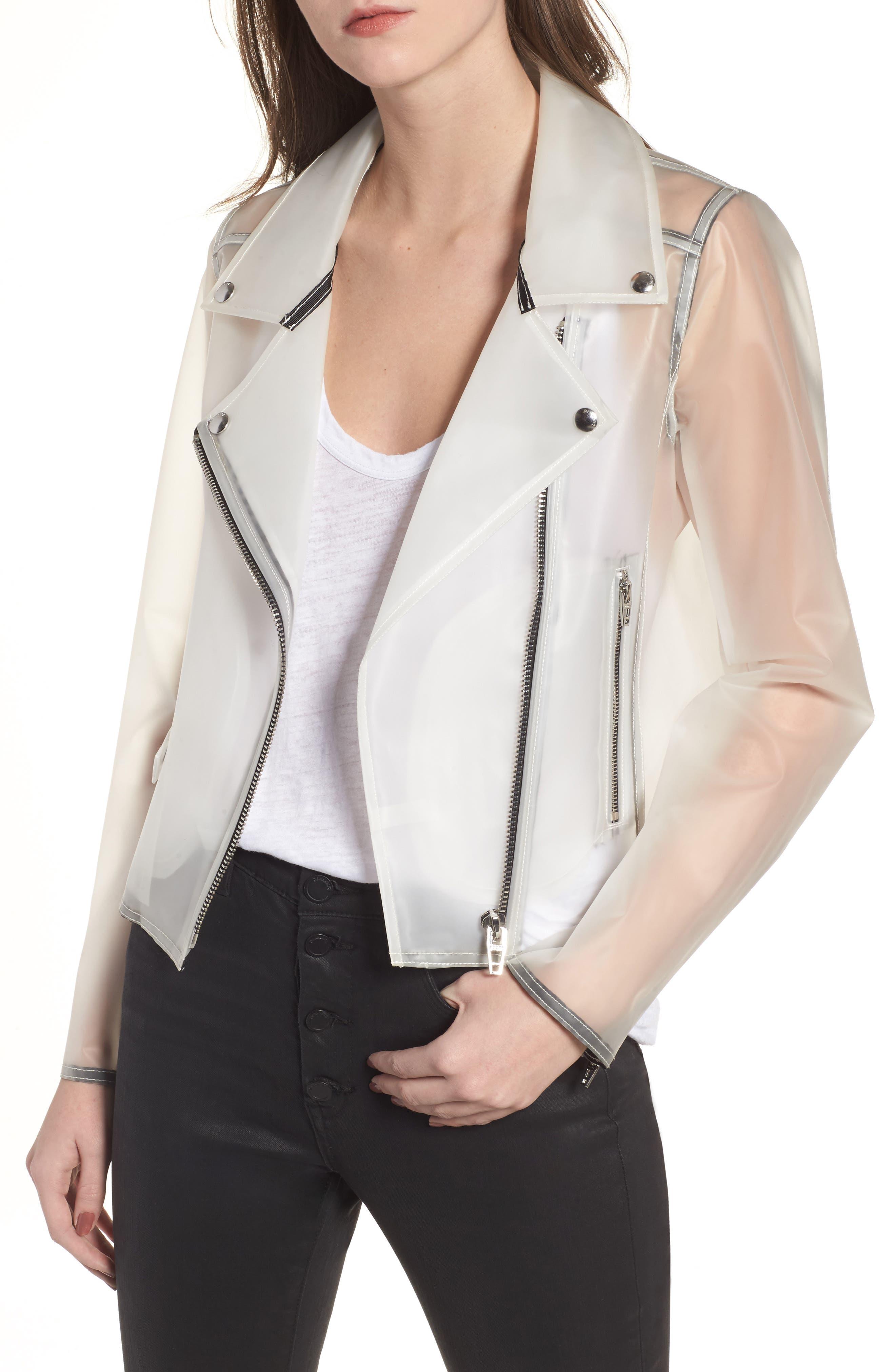 BLANKNYC Plastic Moto Jacket