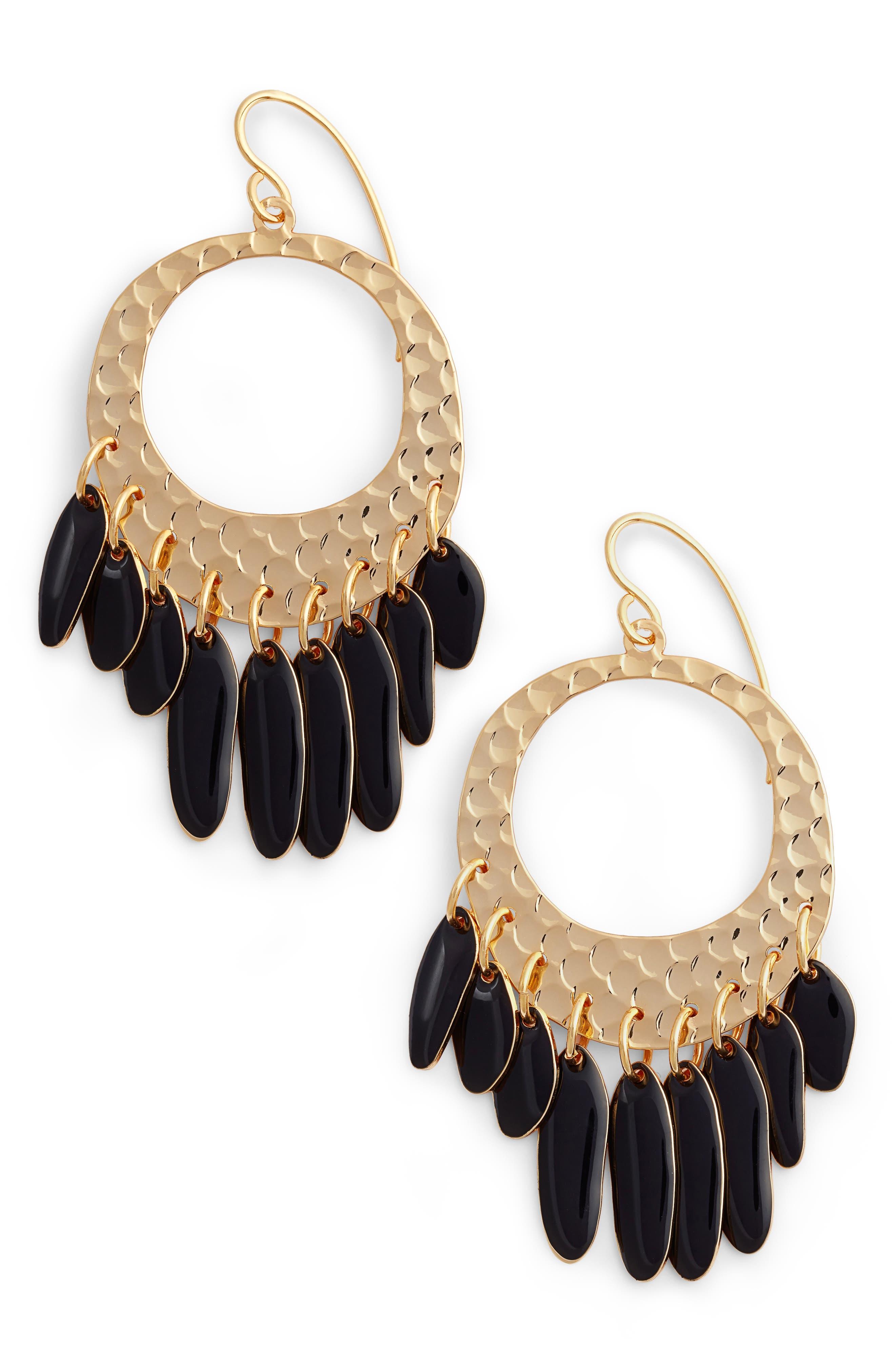 Main Image - DVF Tassel Hoop Earrings