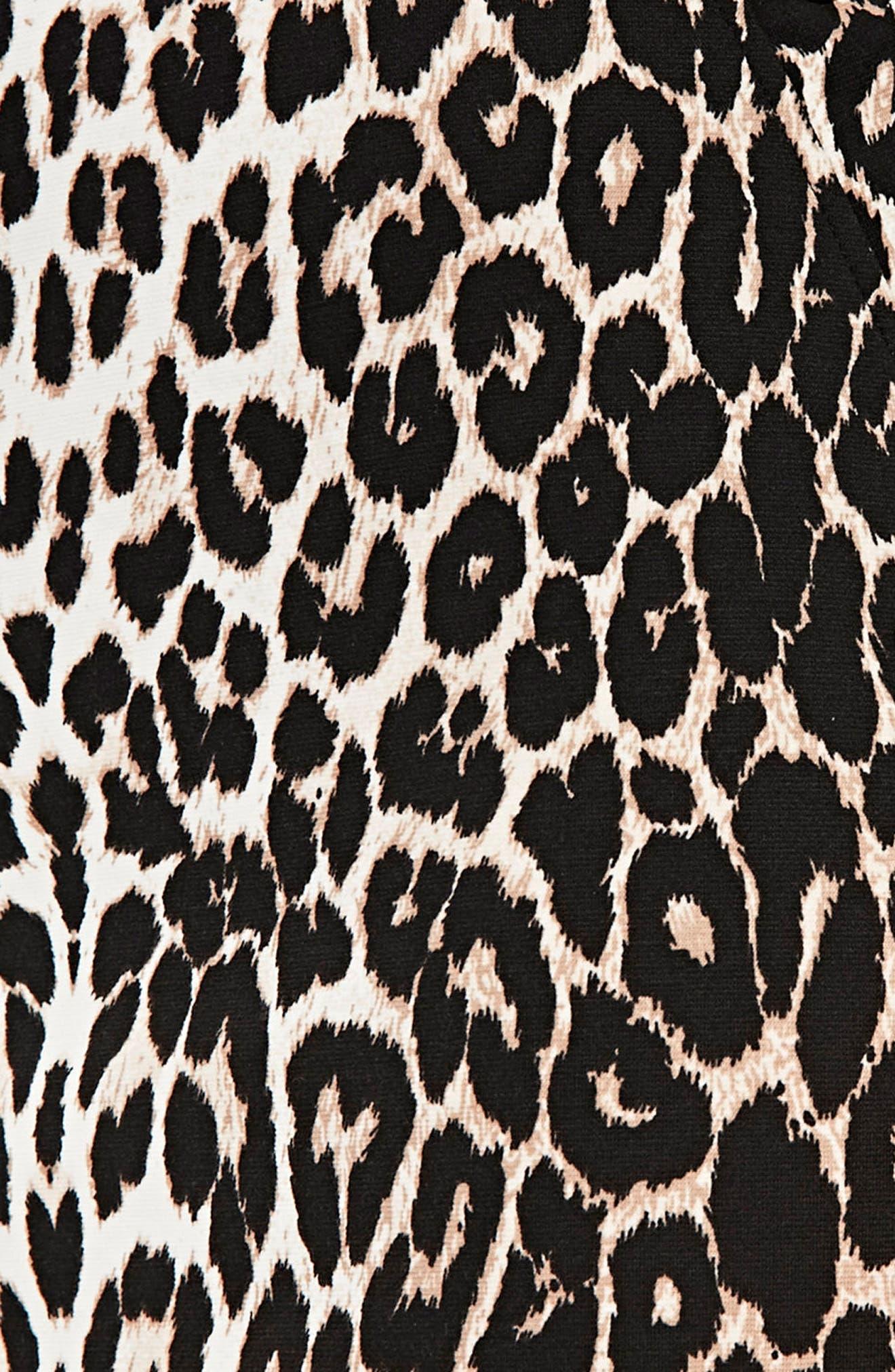 Leopard Ponte Dress,                             Alternate thumbnail 4, color,                             Multi