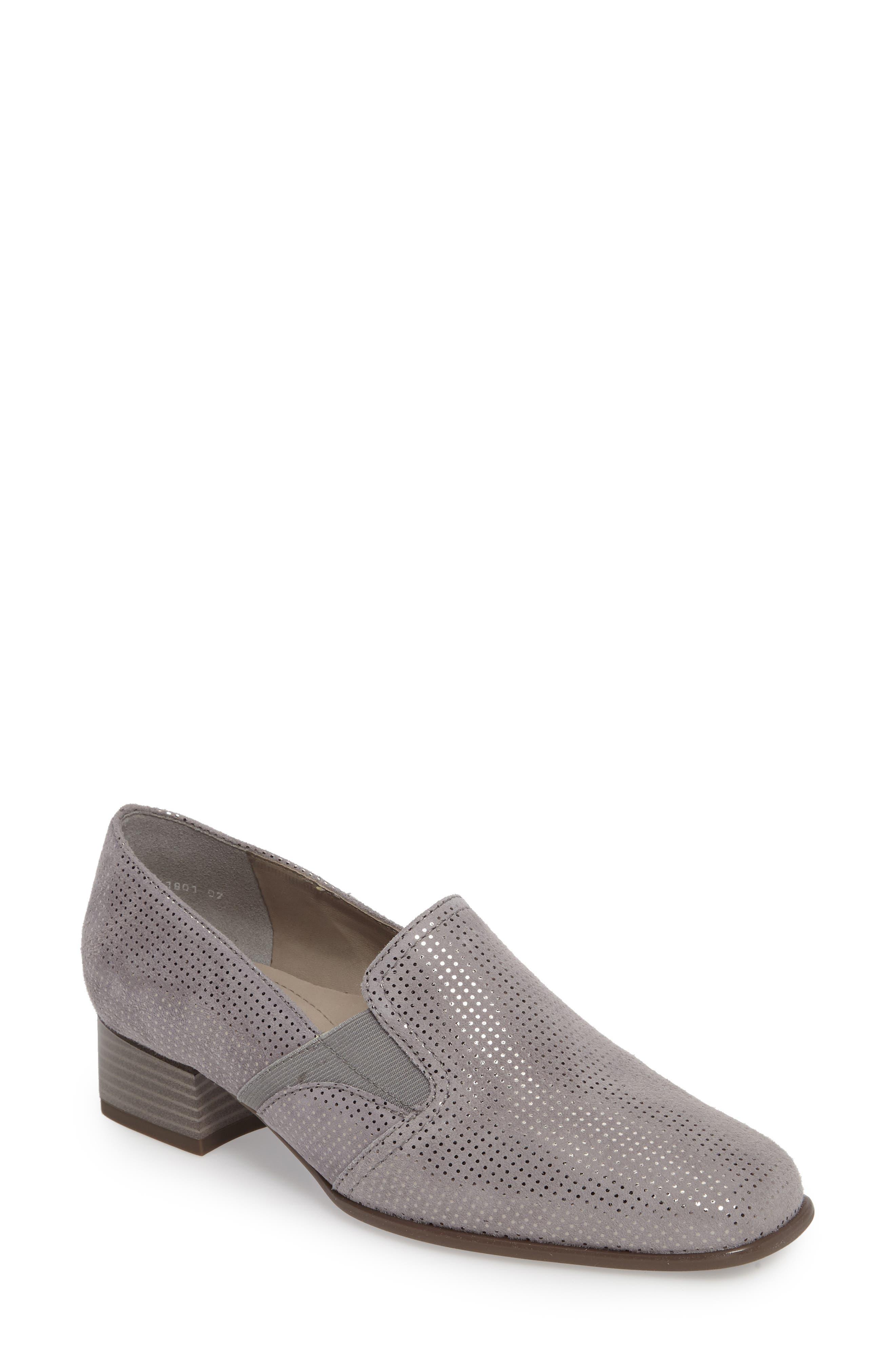 Grace Pump,                         Main,                         color, Grey Leather