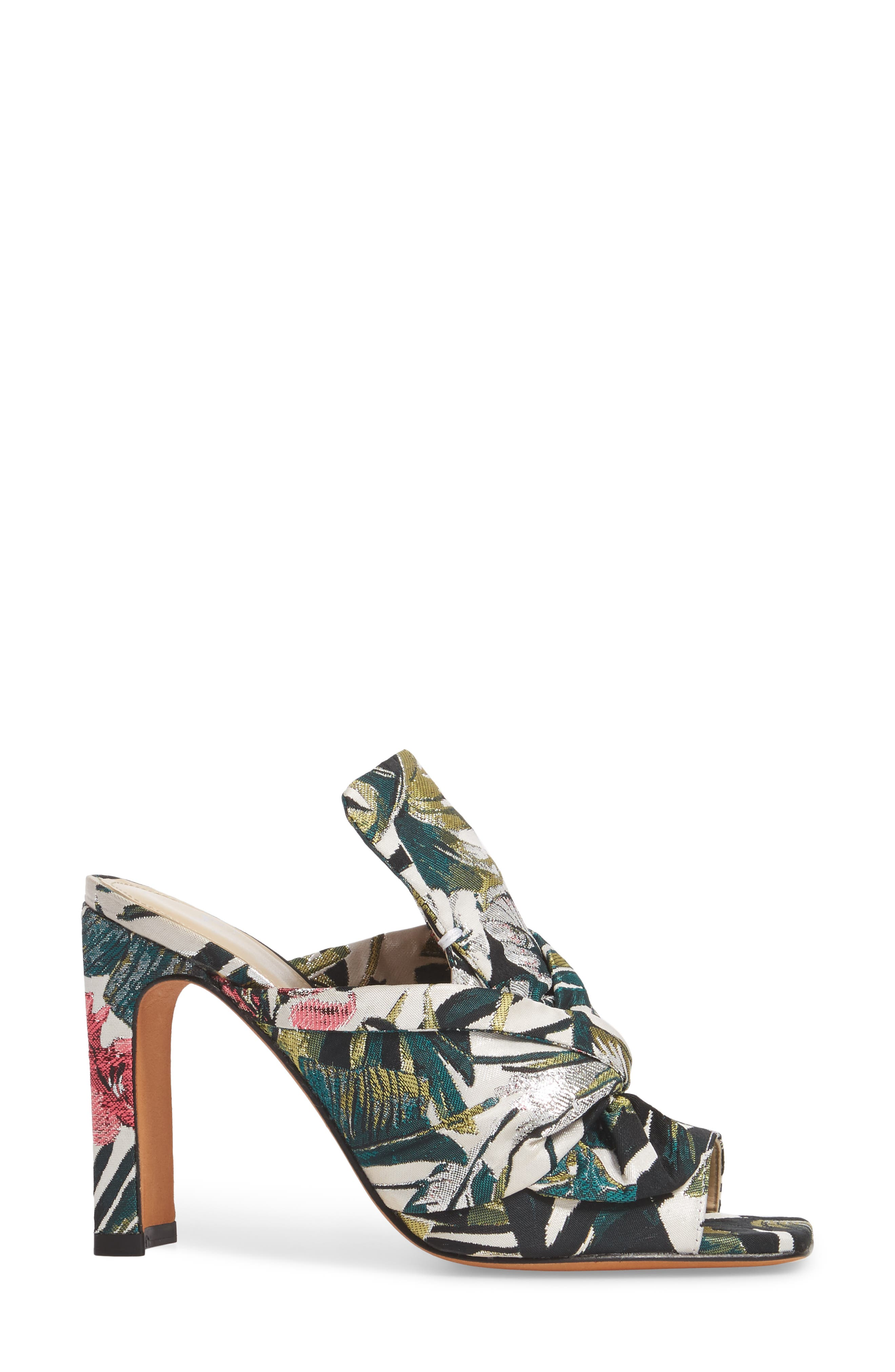 Hogan Slide Sandal,                             Alternate thumbnail 3, color,                             White Leather