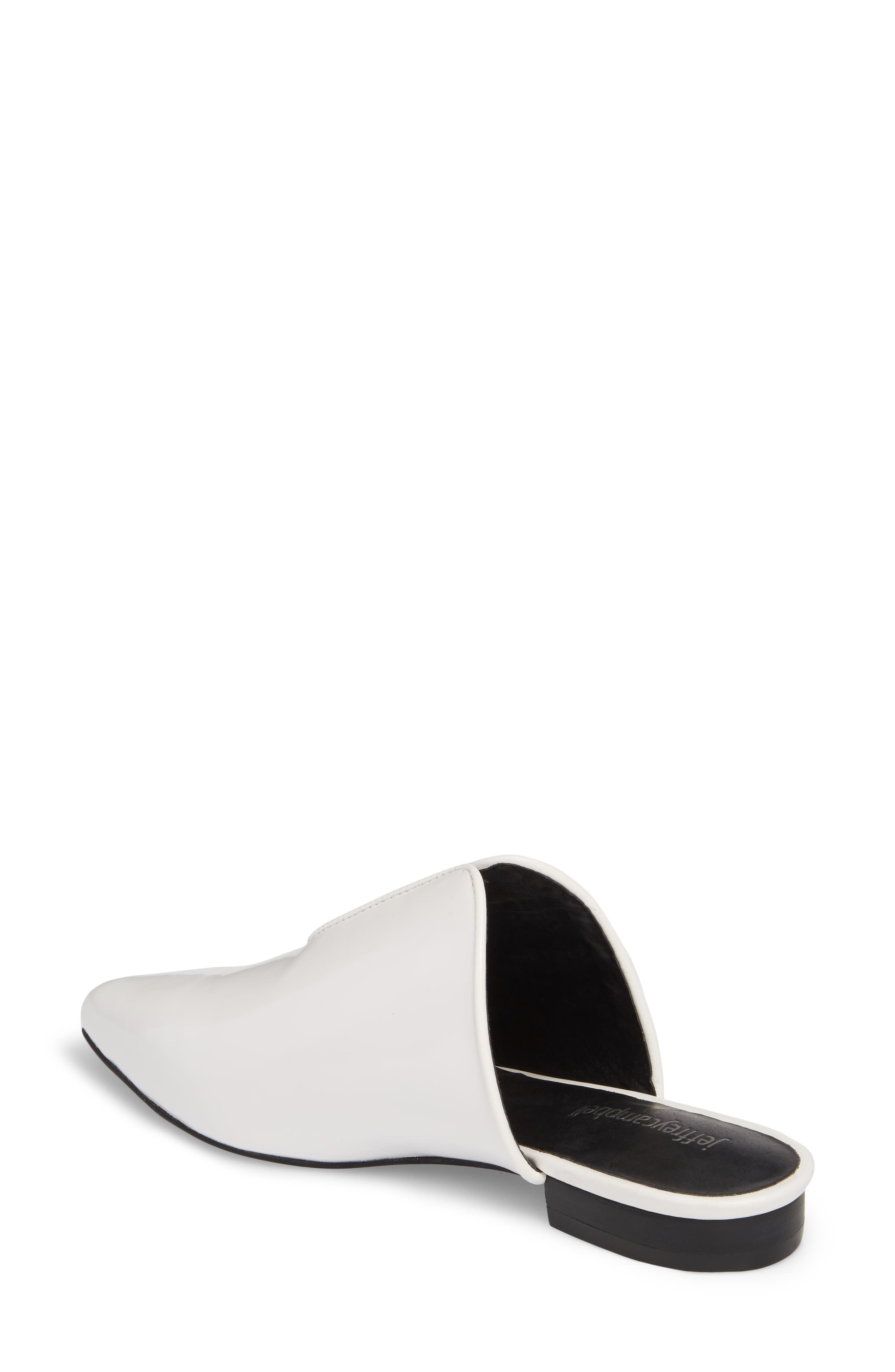 Cleos Mule,                             Alternate thumbnail 2, color,                             White Leather