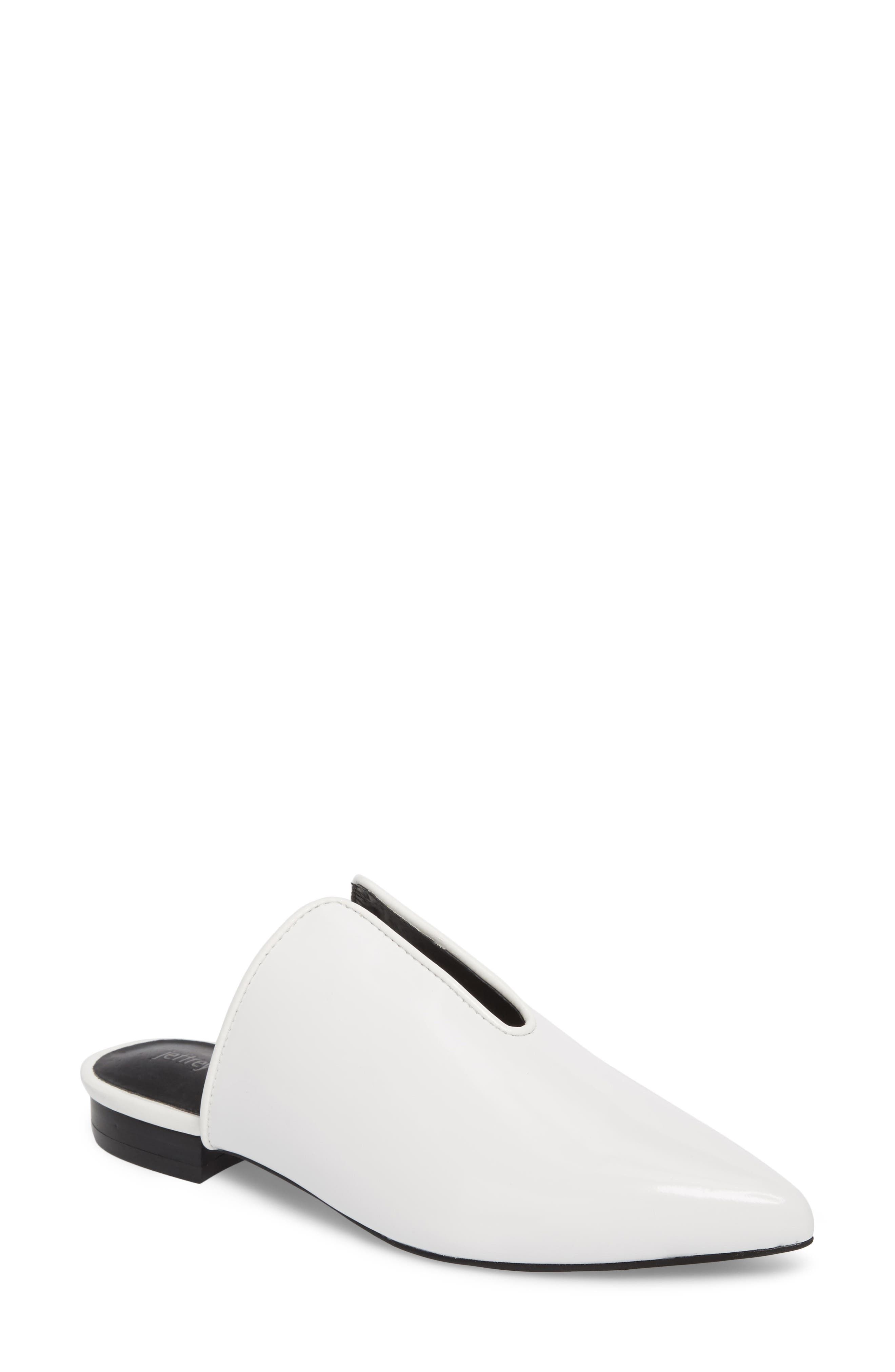 Cleos Mule,                         Main,                         color, White Leather