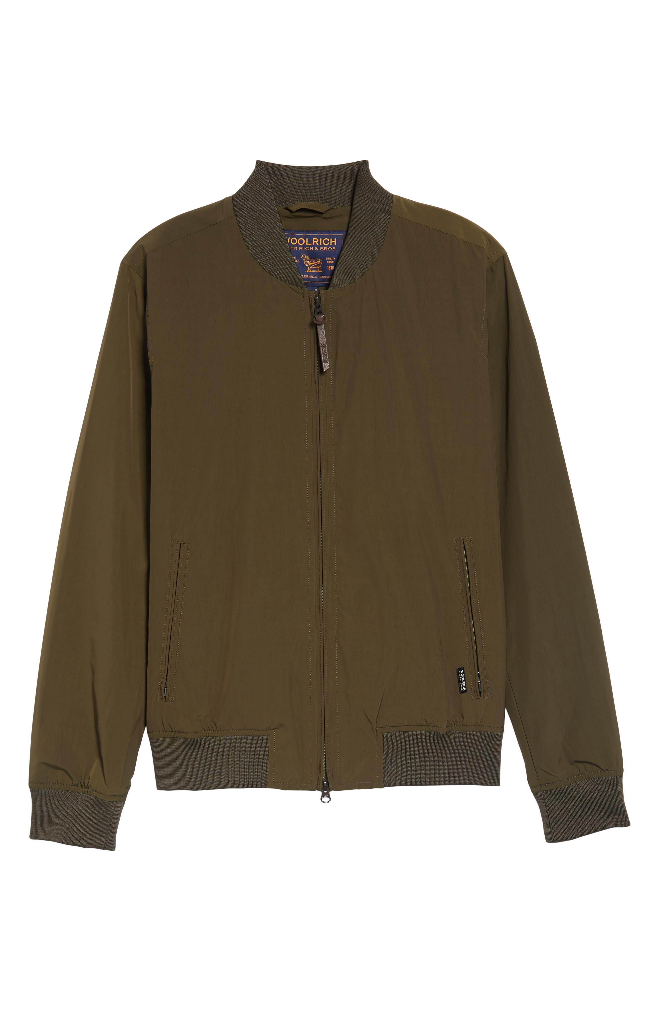 Shore Bomber Jacket,                             Alternate thumbnail 6, color,                             Tenkara Green