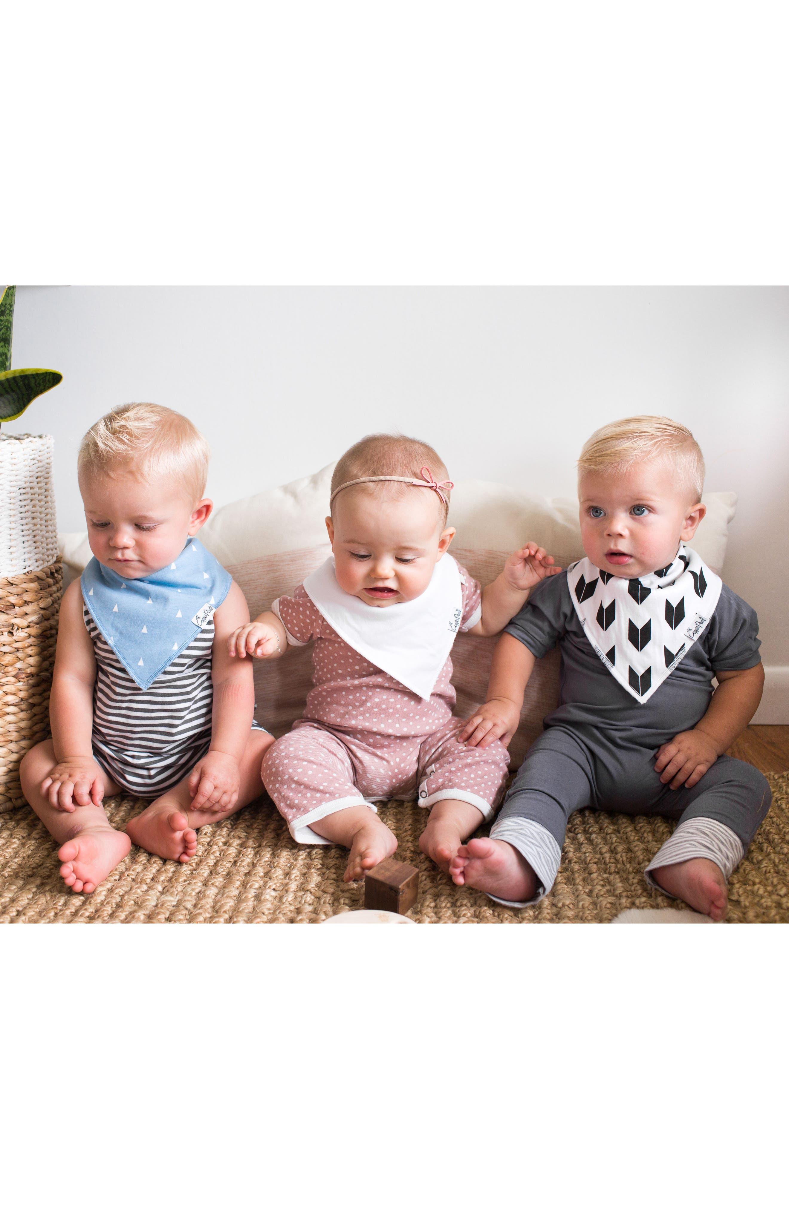 Alternate Image 9  - Copper Pearl Shade Bib, Burp Cloth & Swaddle Blanket Gift Set
