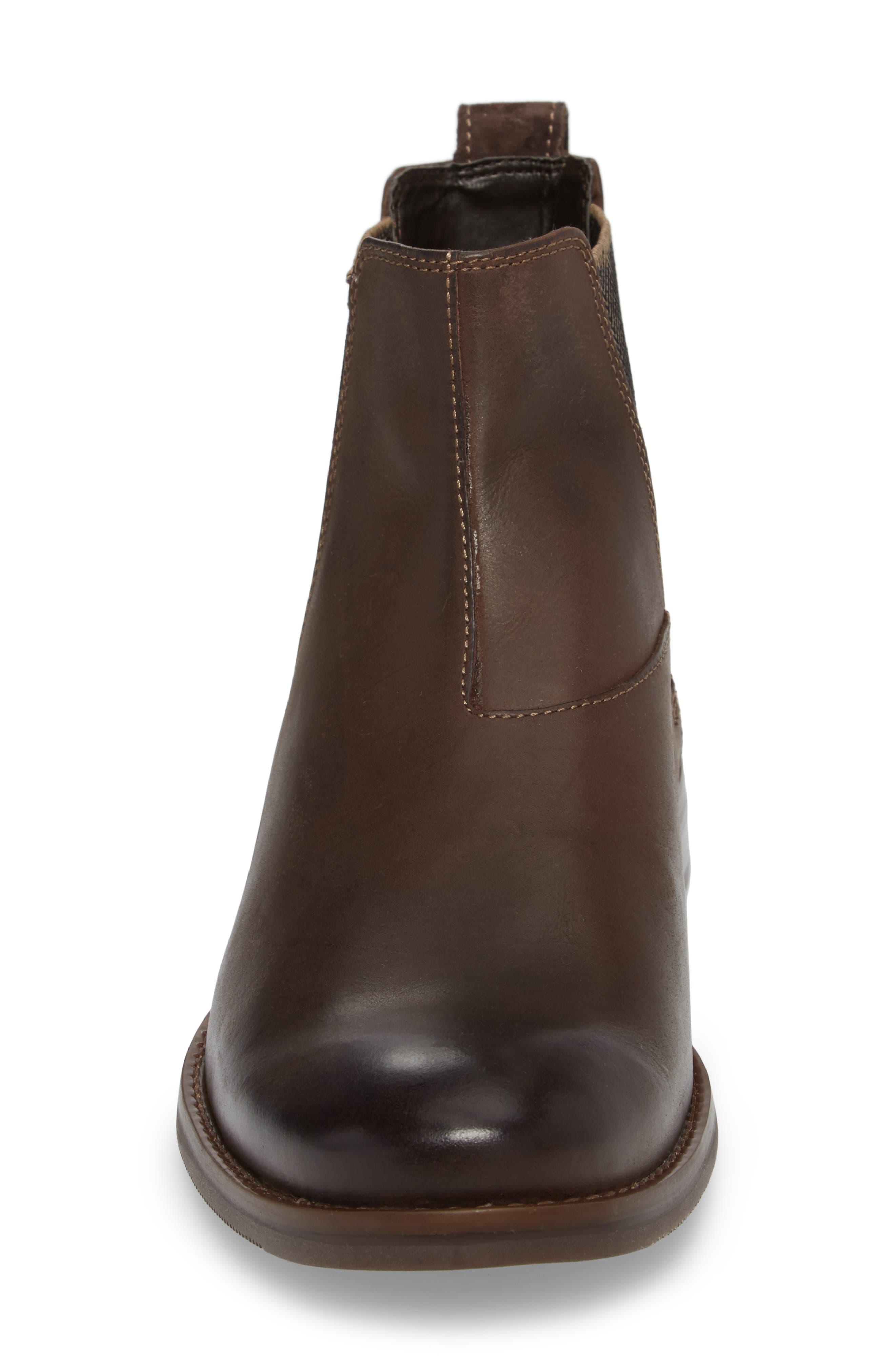 Wynstin Chelsea Boot,                             Alternate thumbnail 4, color,                             Dark Bitter Chocolate Leather