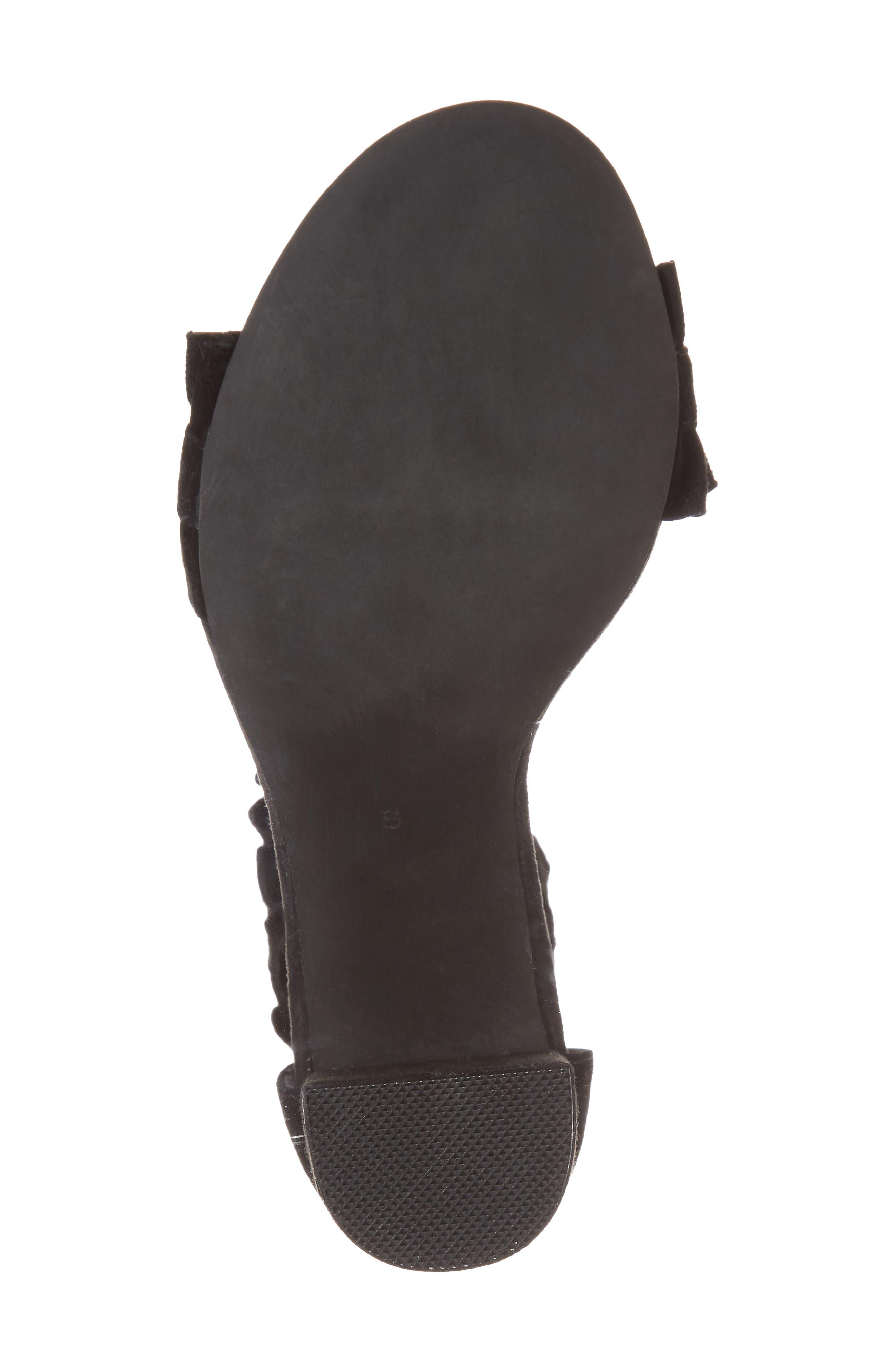 Lindsay Dome Studded Sandal,                             Alternate thumbnail 6, color,                             Black Suede