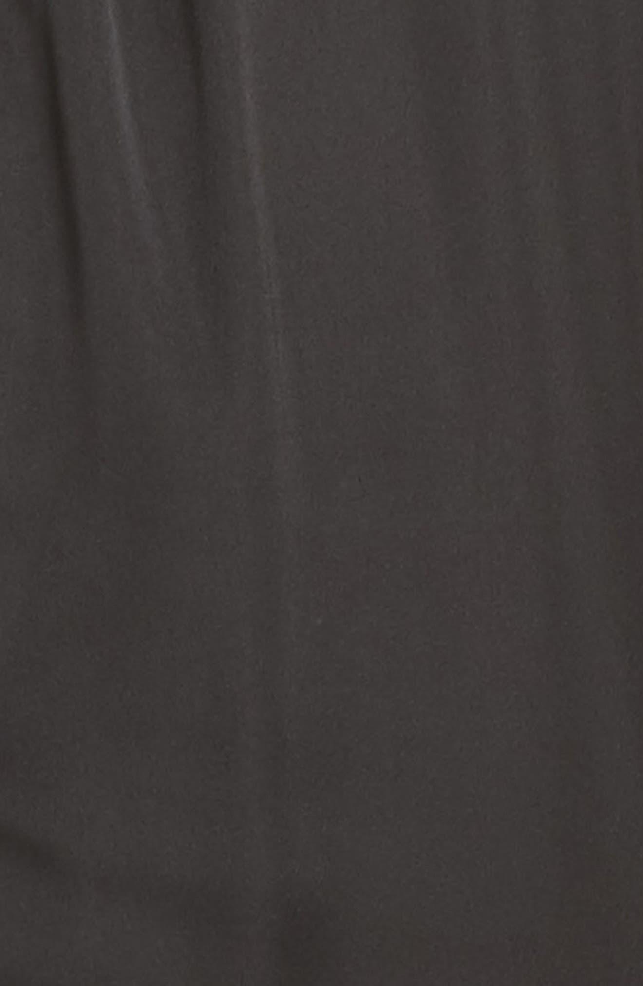 Abigail Secretary Satin Bodysuit,                             Alternate thumbnail 6, color,                             Noir