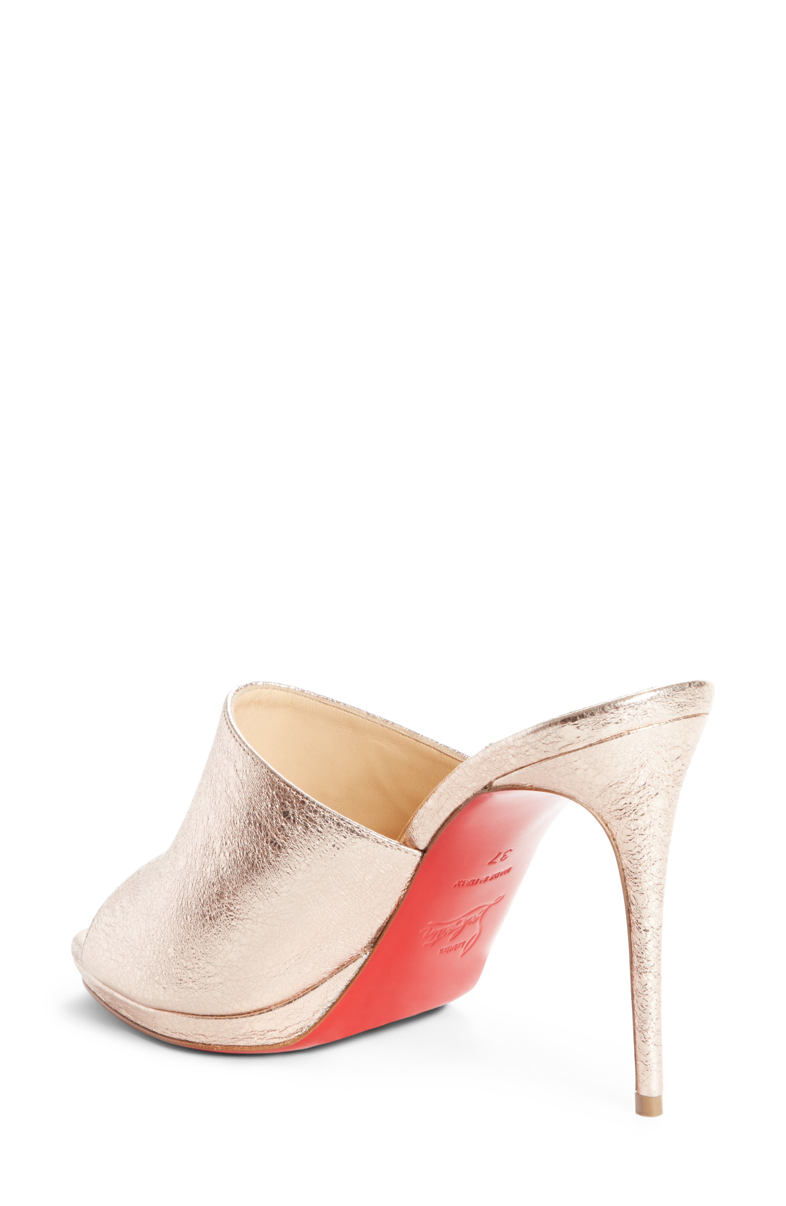 Metallic Pigalle Mule,                             Alternate thumbnail 2, color,                             Rose Gold