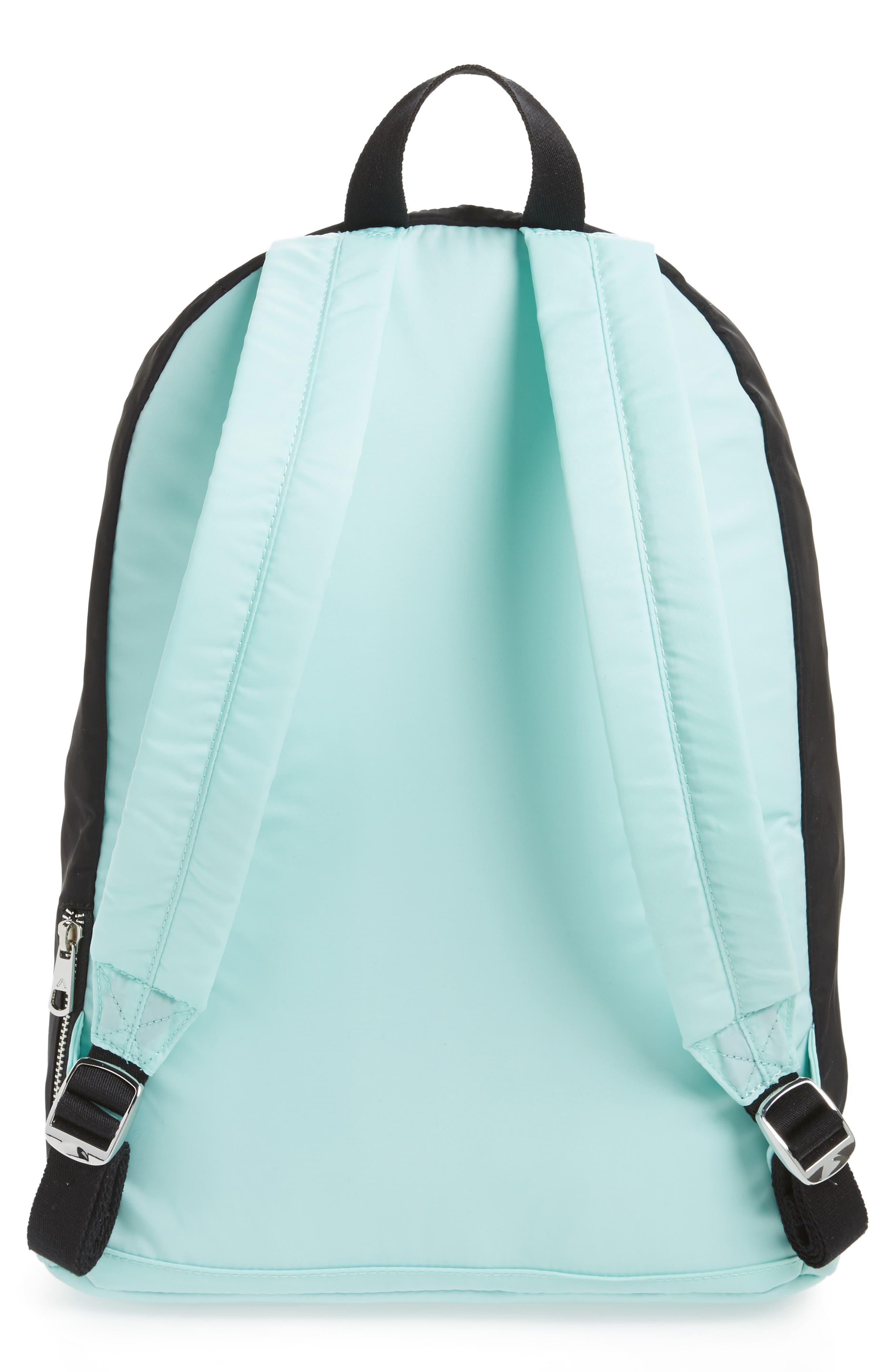 The Heights Adams Backpack,                             Alternate thumbnail 3, color,                             Black/ Mint