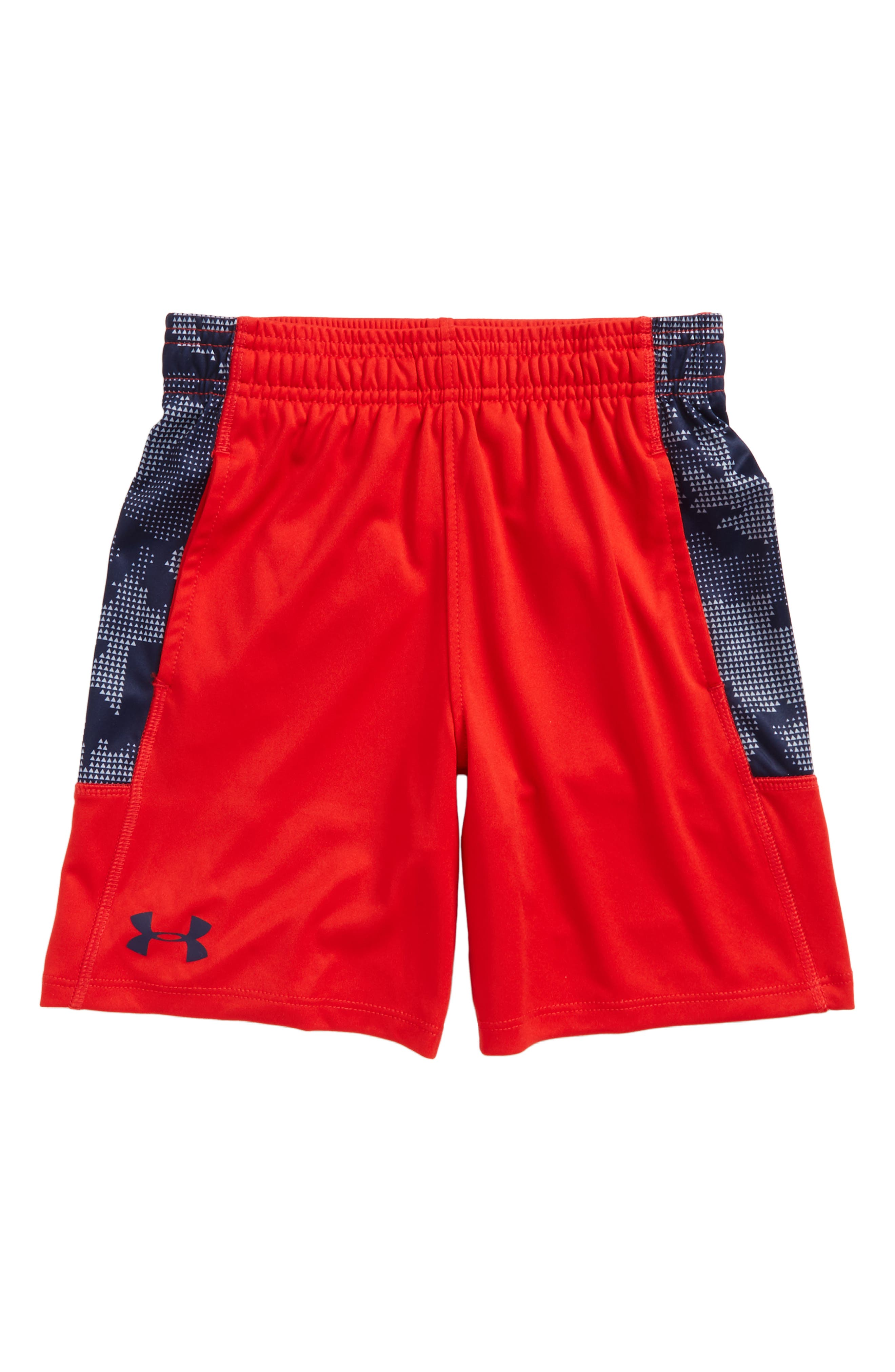 Utility Camo Stunt Athletic Shorts,                         Main,                         color, Red