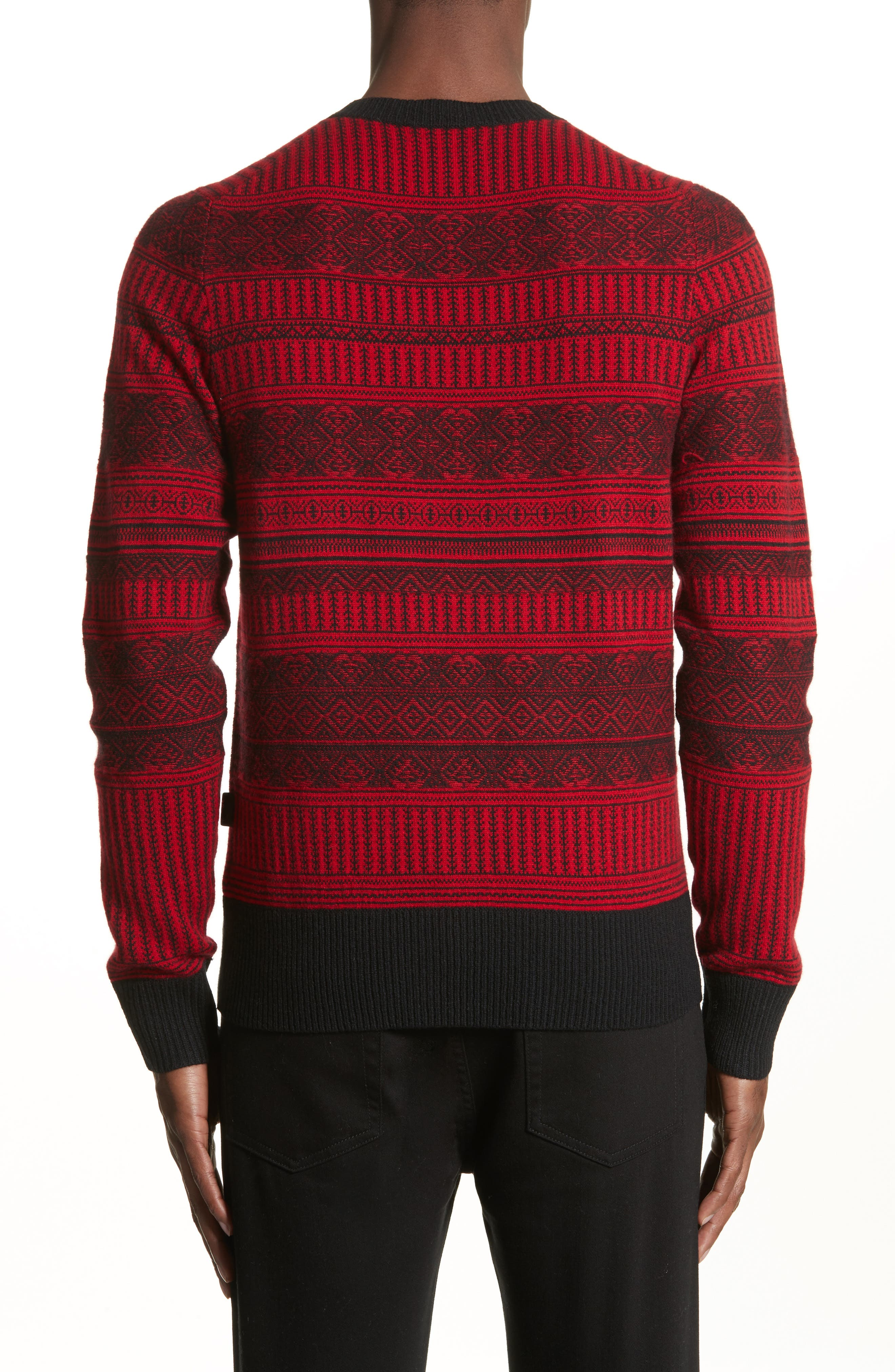 Tredway Wool & Cashmere Sweater,                             Alternate thumbnail 2, color,                             Military Red