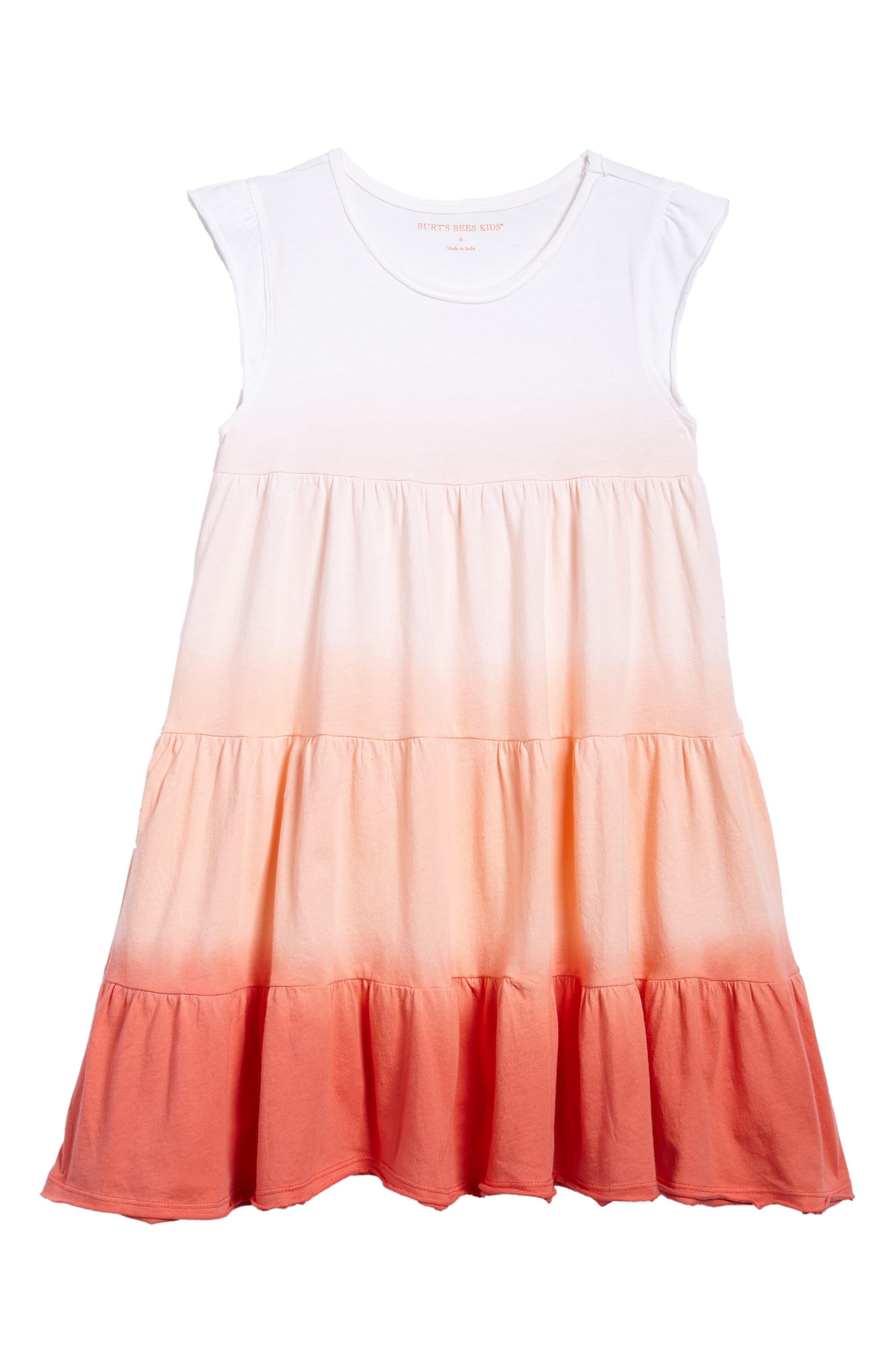 Main Image - Burt's Bees Baby Dip Dye Organic Cotton Dress (Toddler Girls & Little Girls)