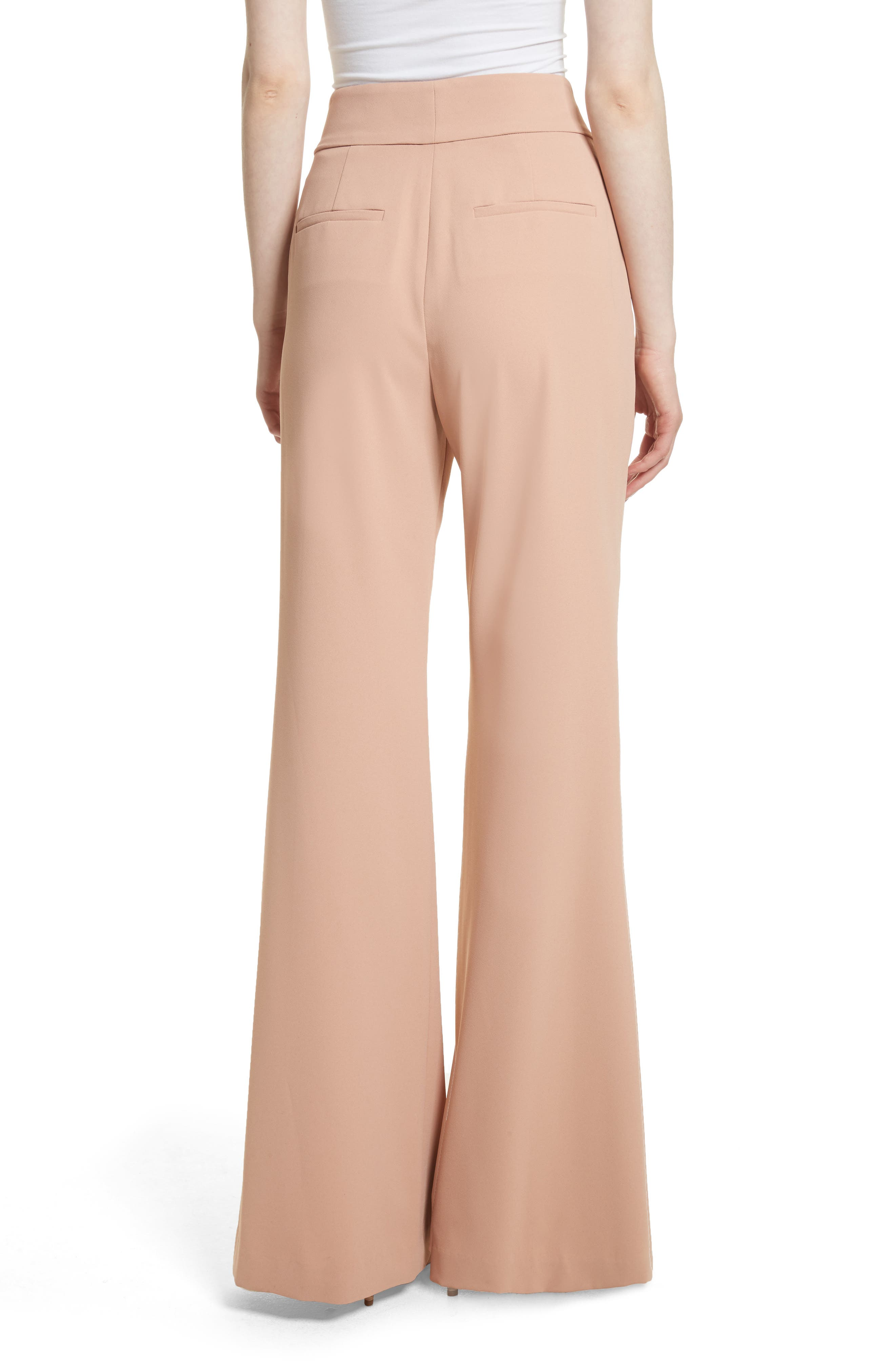 Alternate Image 2  - Alice + Olivia Dawn High Waist Front Pintuck Flared Pants