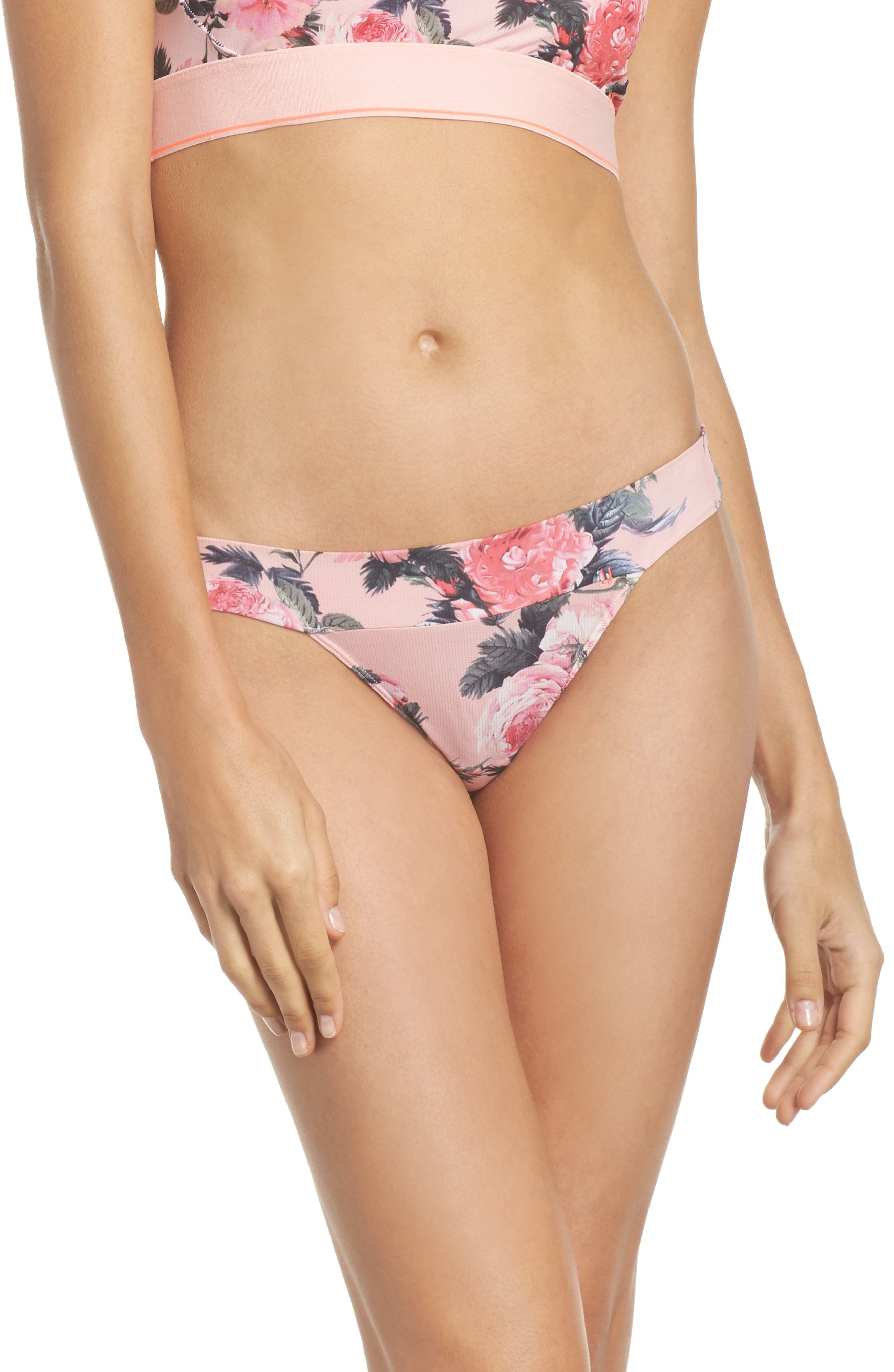 Floral Thong,                         Main,                         color, Pink Multi
