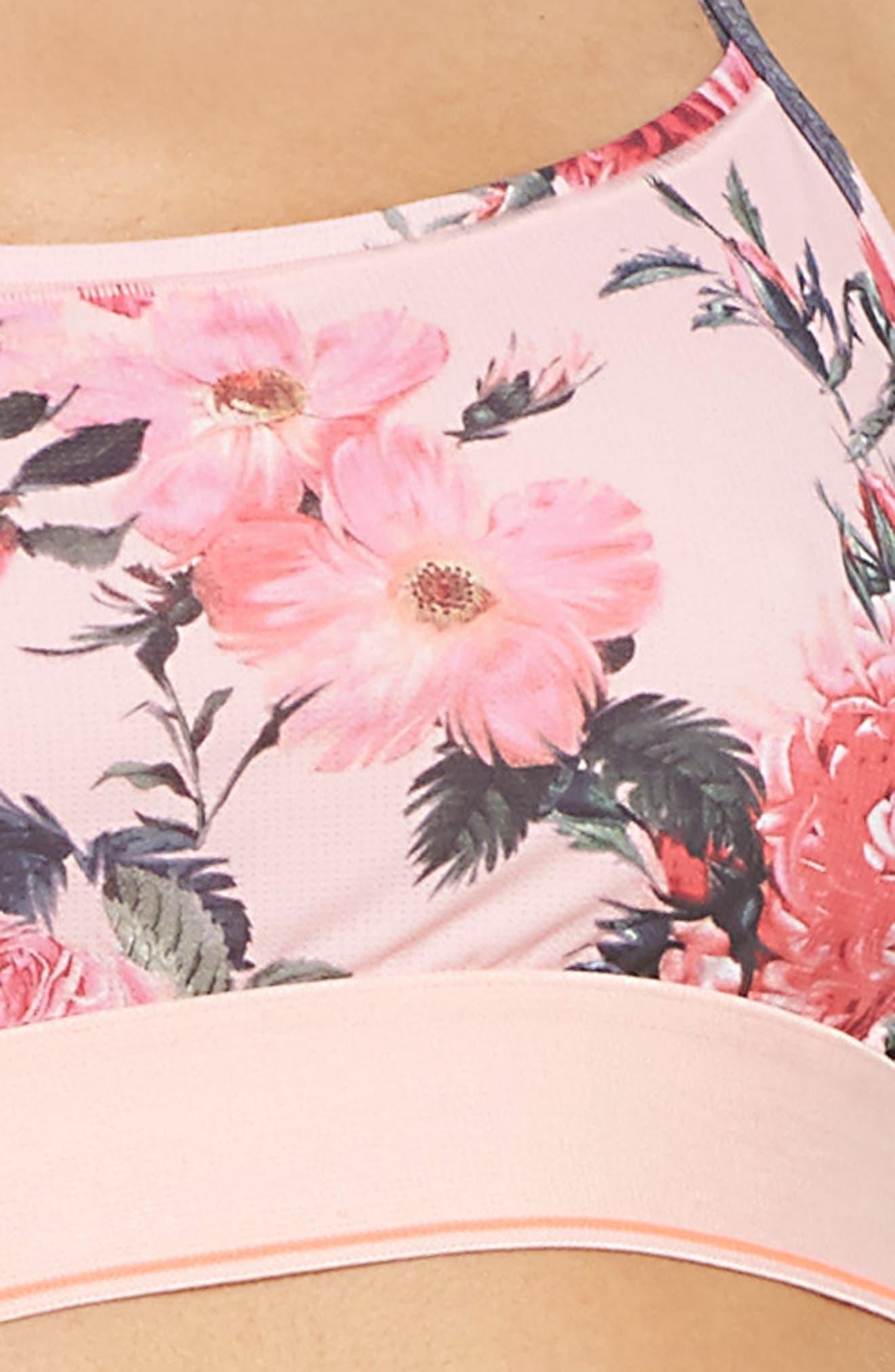 Floral Tomboy Bralette,                             Alternate thumbnail 9, color,                             Pink Multi