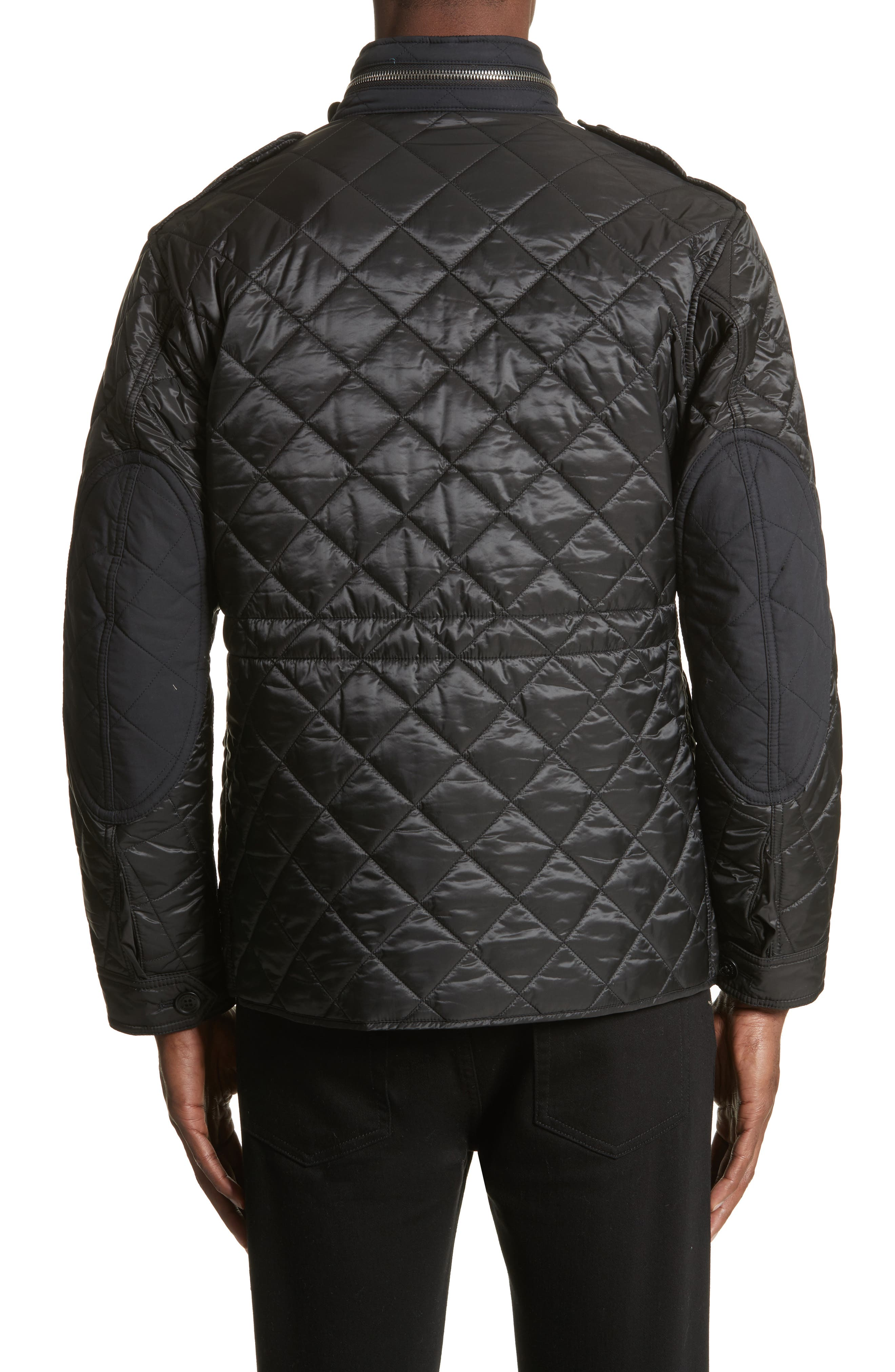 Quilted Jacket,                             Alternate thumbnail 2, color,                             Black