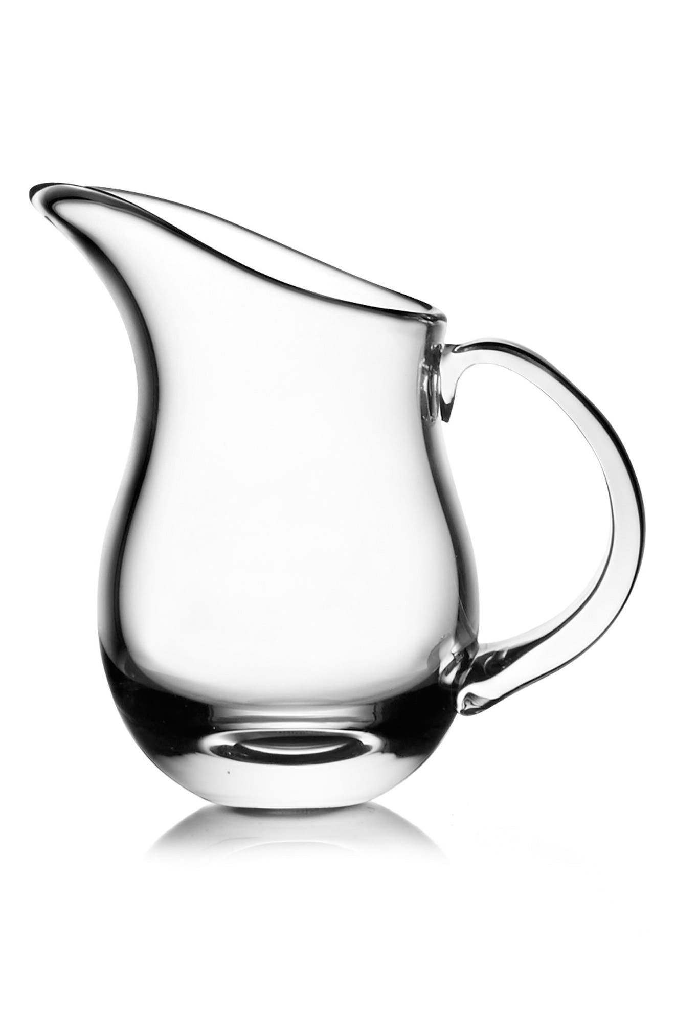 Moderne Small Pitcher,                         Main,                         color, Clear
