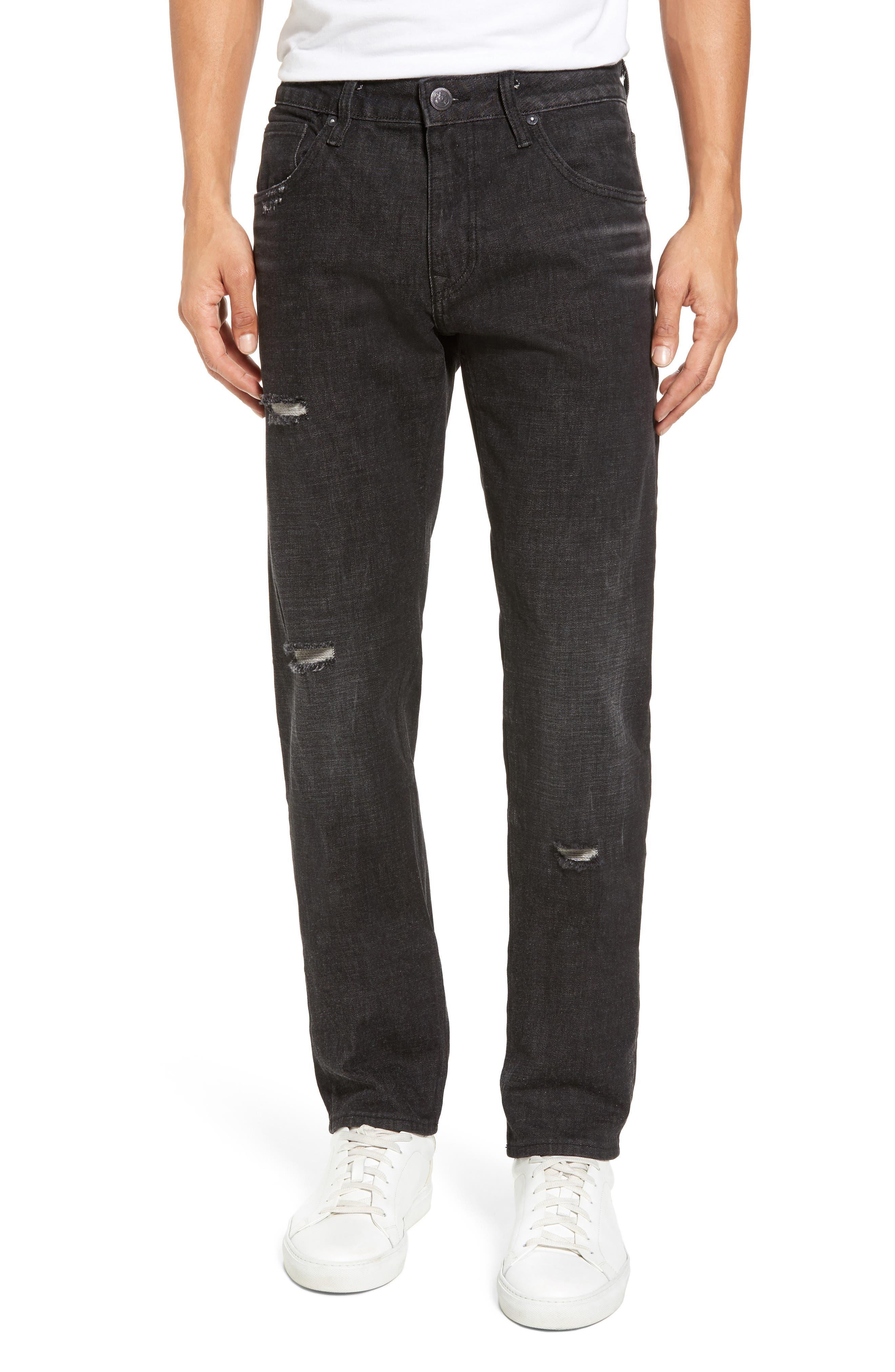 Slim Straight Leg Jeans,                         Main,                         color, Black