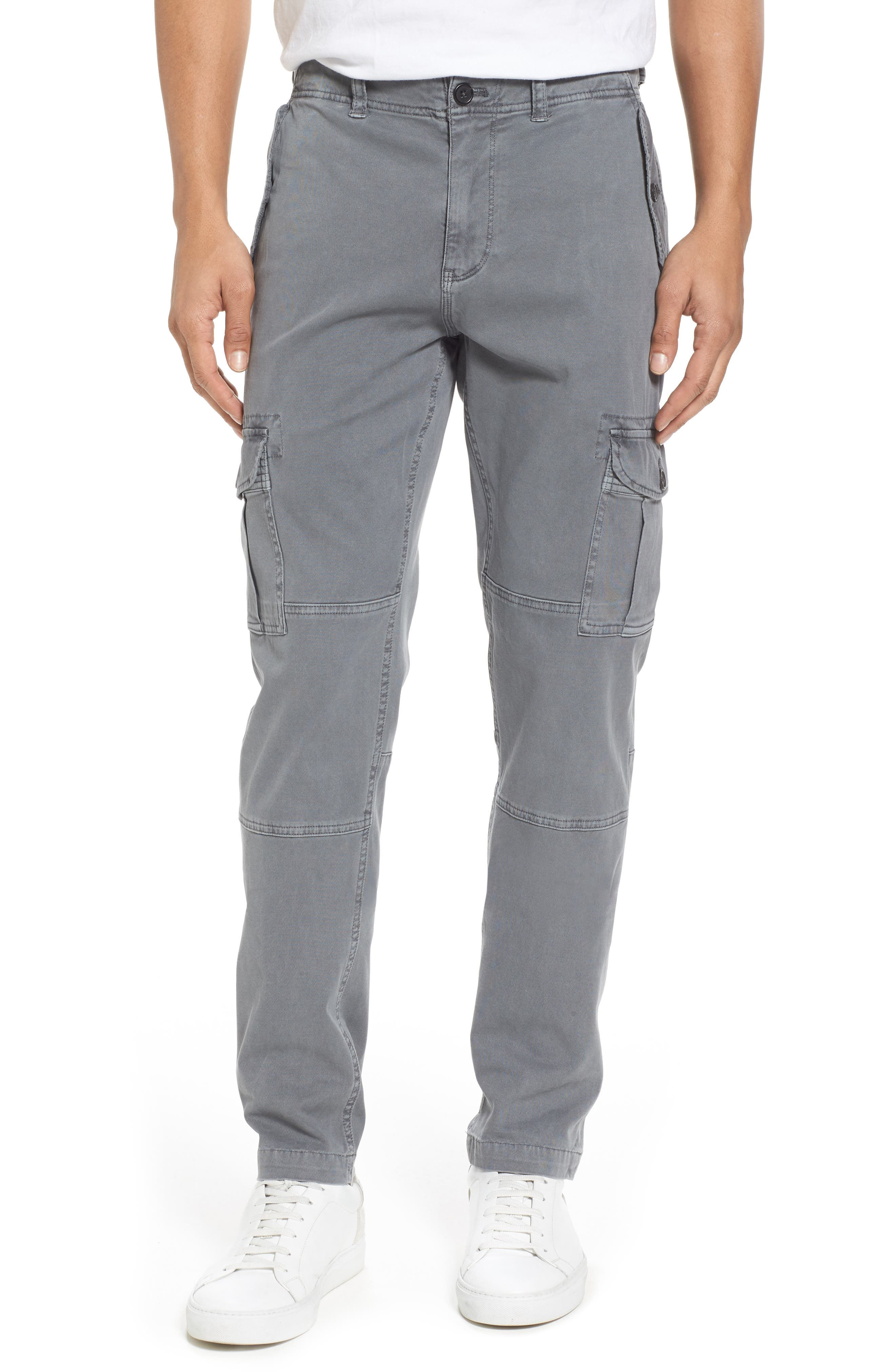 Stretch Twill Cargo Pants,                         Main,                         color, Gray