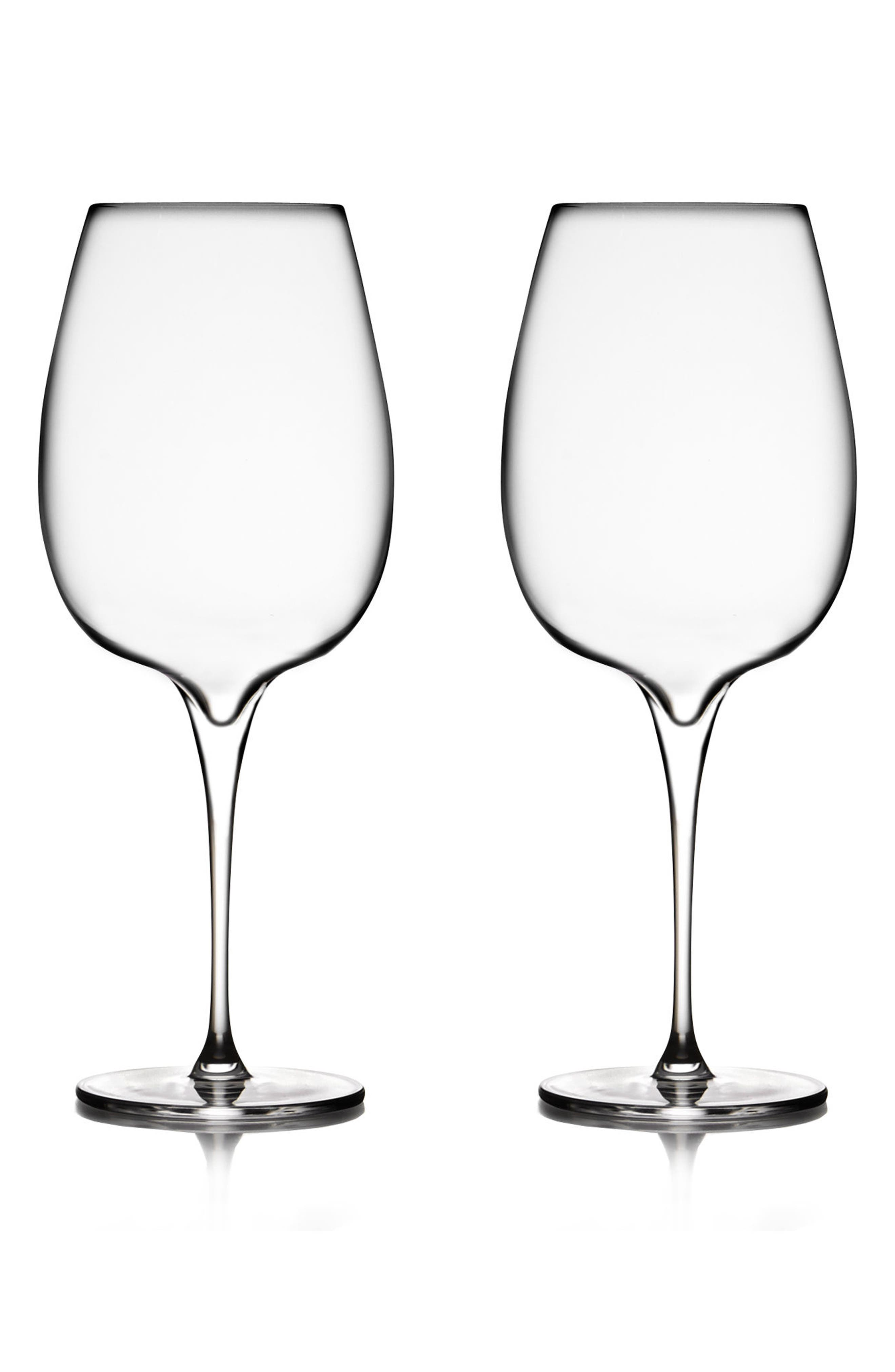 Main Image - Nambé Vie Set of 2 Cabernet Glasses