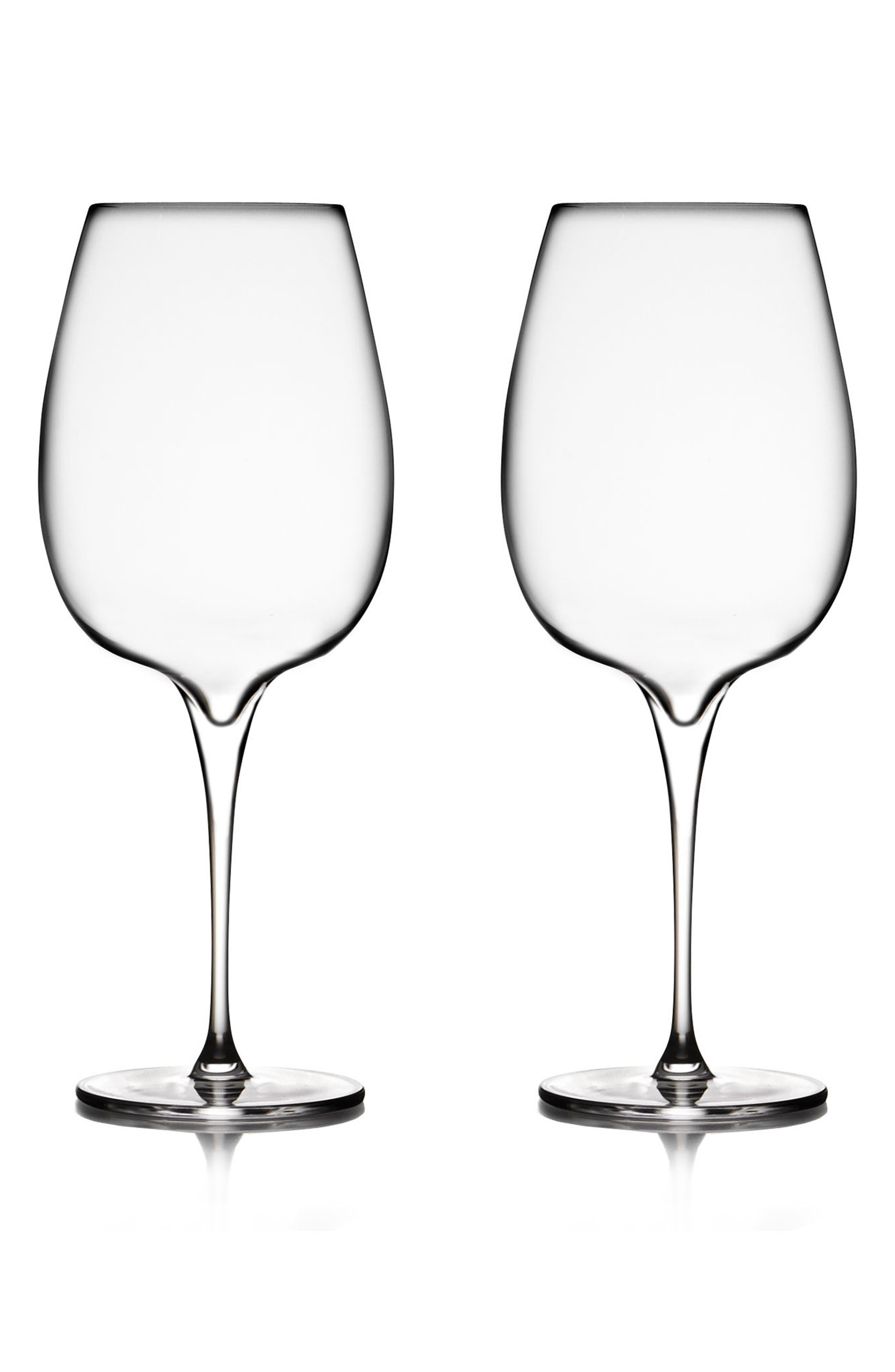 Nambé Vie Set of 2 Cabernet Glasses
