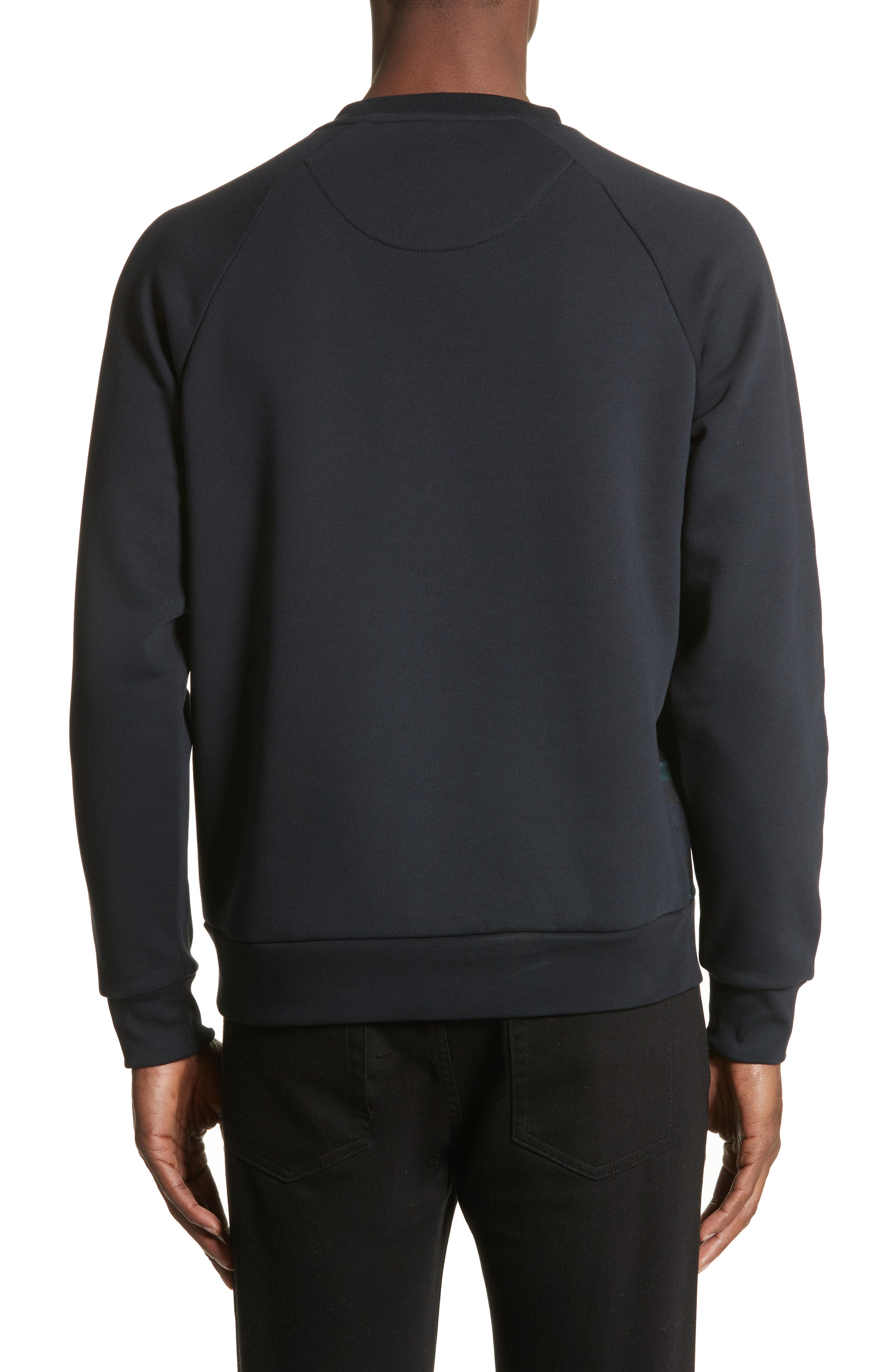 Alternate Image 2  - Burberry Beachen Tartan Panel Jersey Sweatshirt