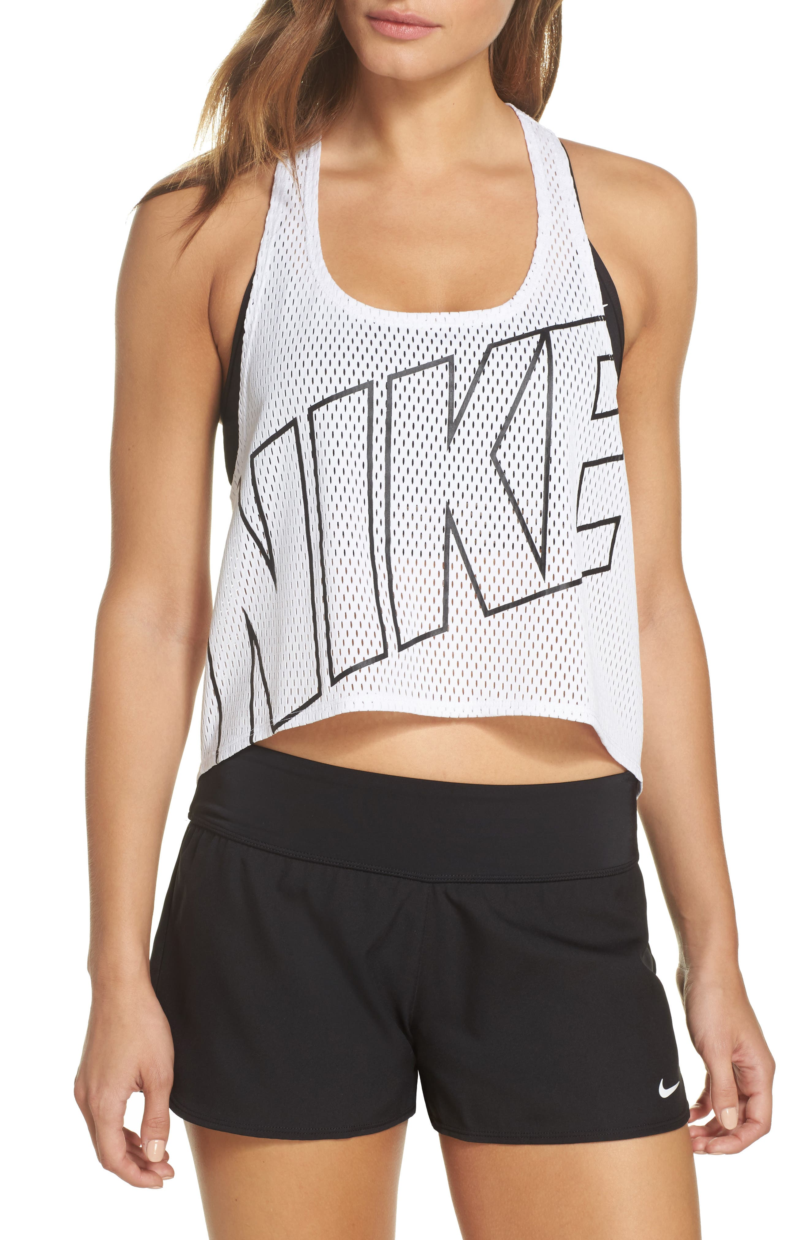 Mesh Crop Top Cover-Up,                             Main thumbnail 1, color,                             White
