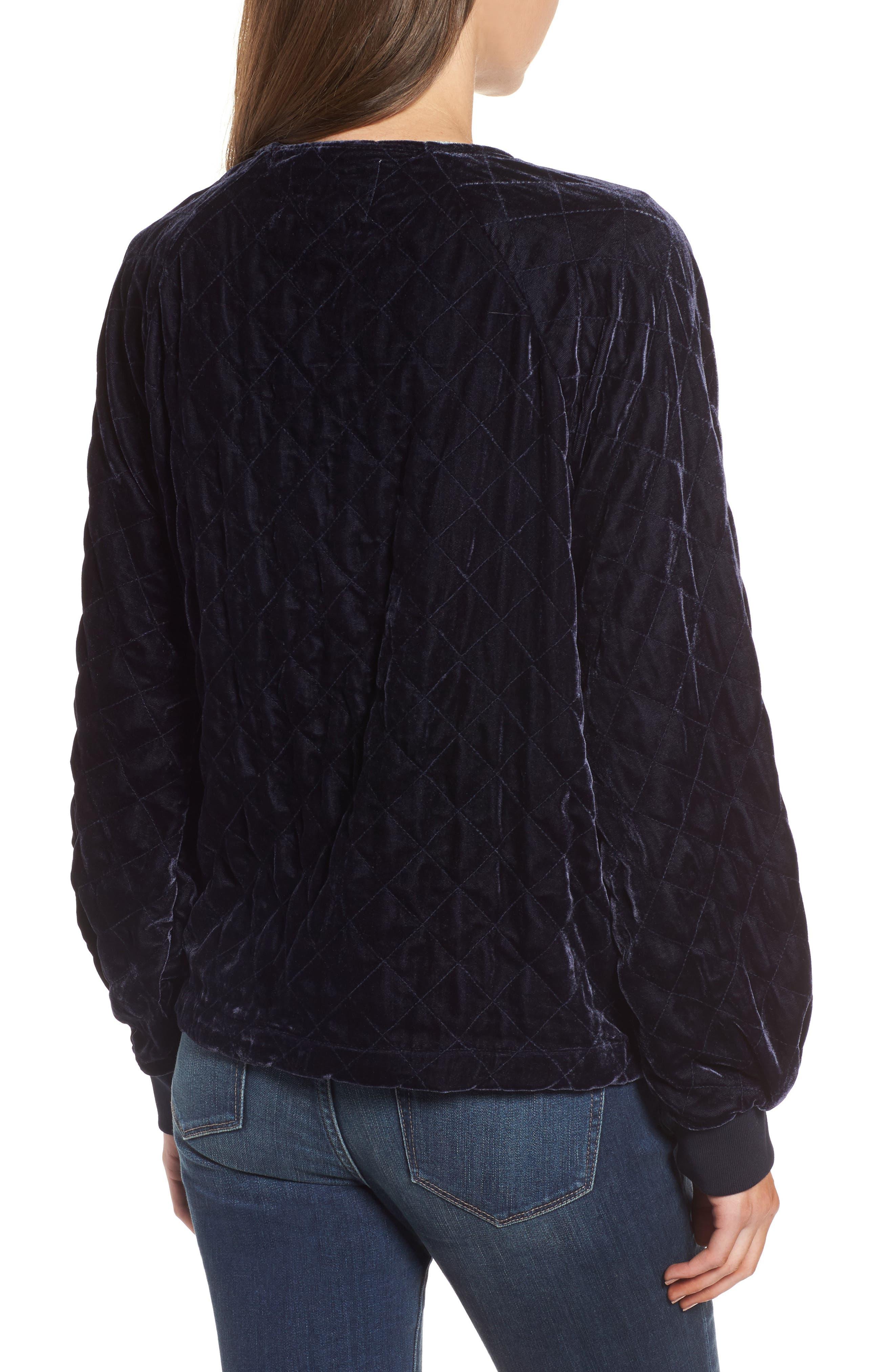 Alternate Image 2  - Hinge Quilted Velvet Jacket