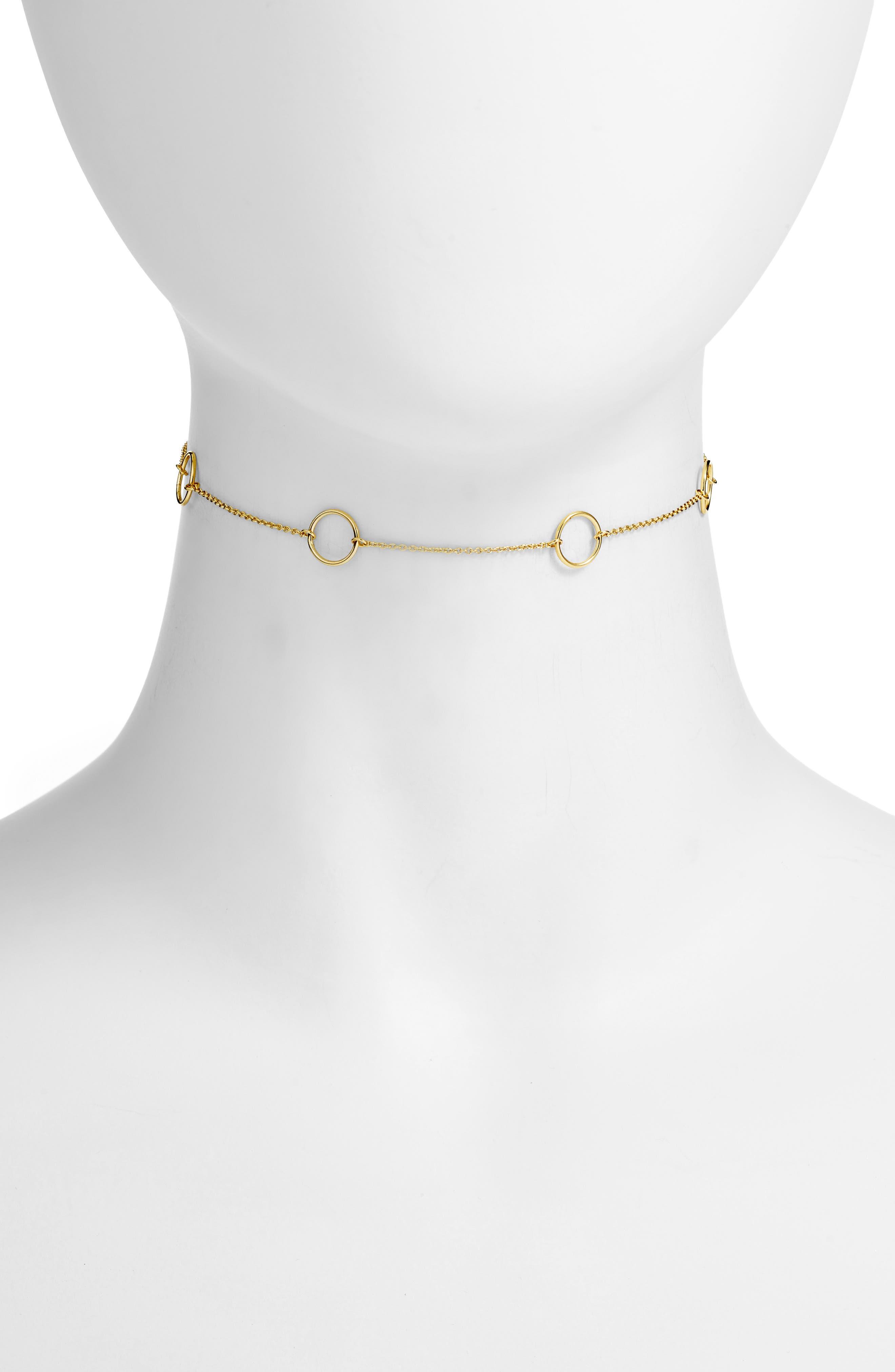 Max Circle Choker Necklace,                         Main,                         color, Gold