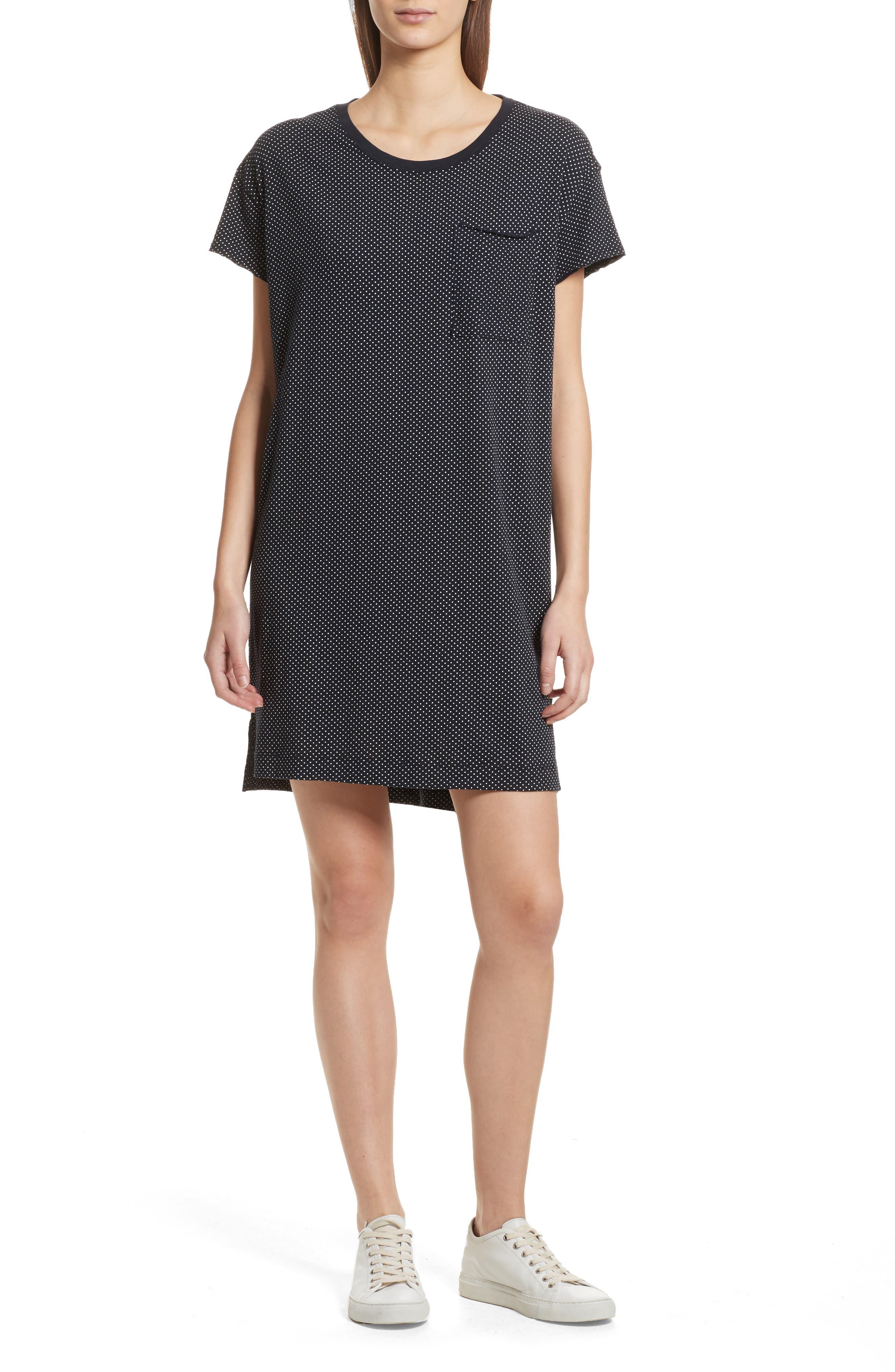 ATM Anthony Thomas Melillo Polka Dot T-Shirt Dress