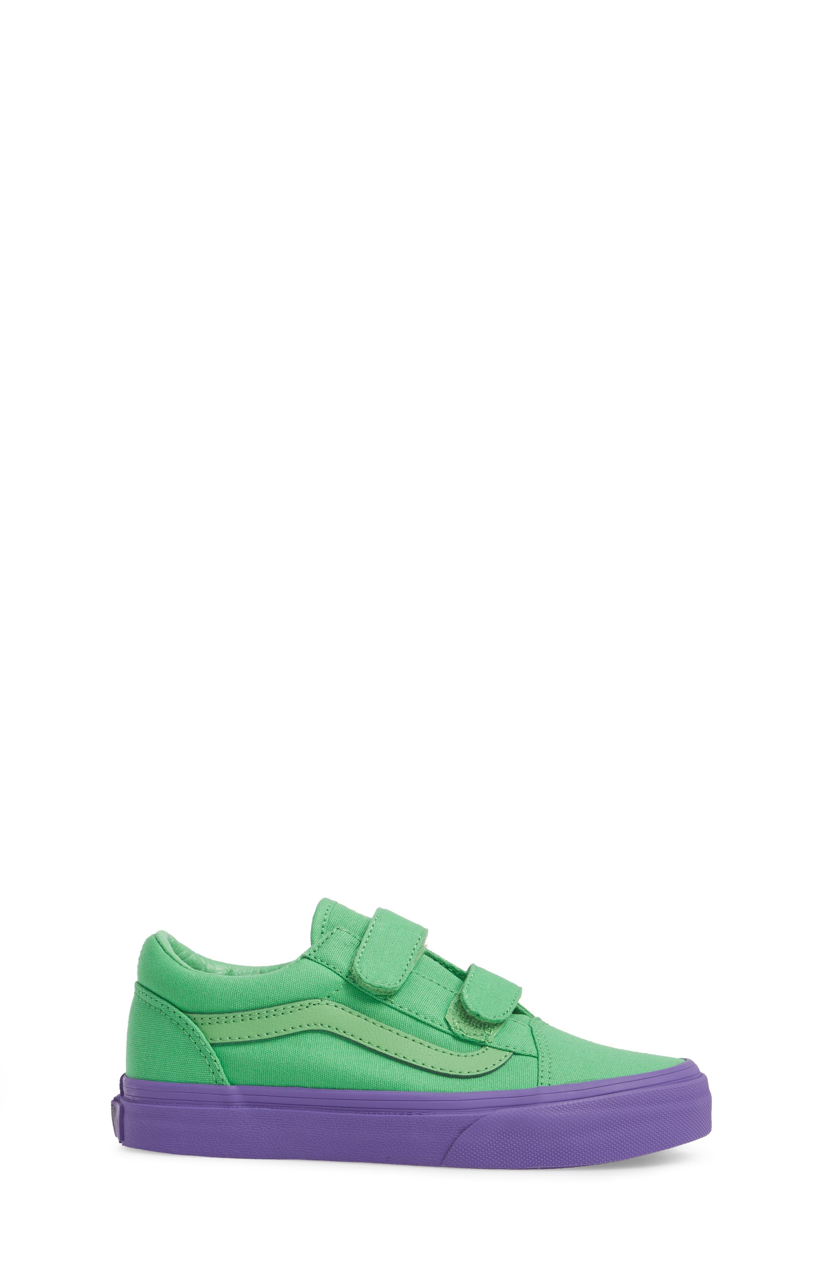 Old Skool V Sneaker,                             Alternate thumbnail 3, color,                             Green/ Purple Cosplay