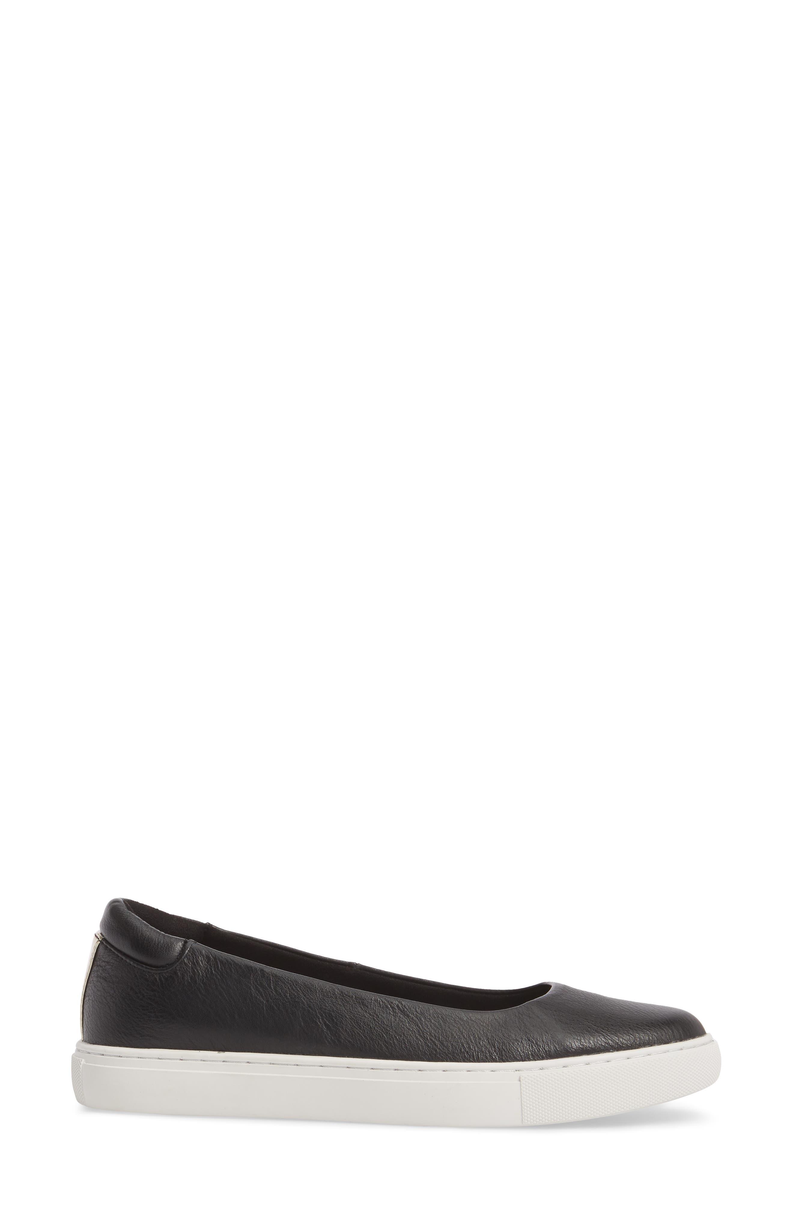 Kassie Flat,                             Alternate thumbnail 3, color,                             Black Leather