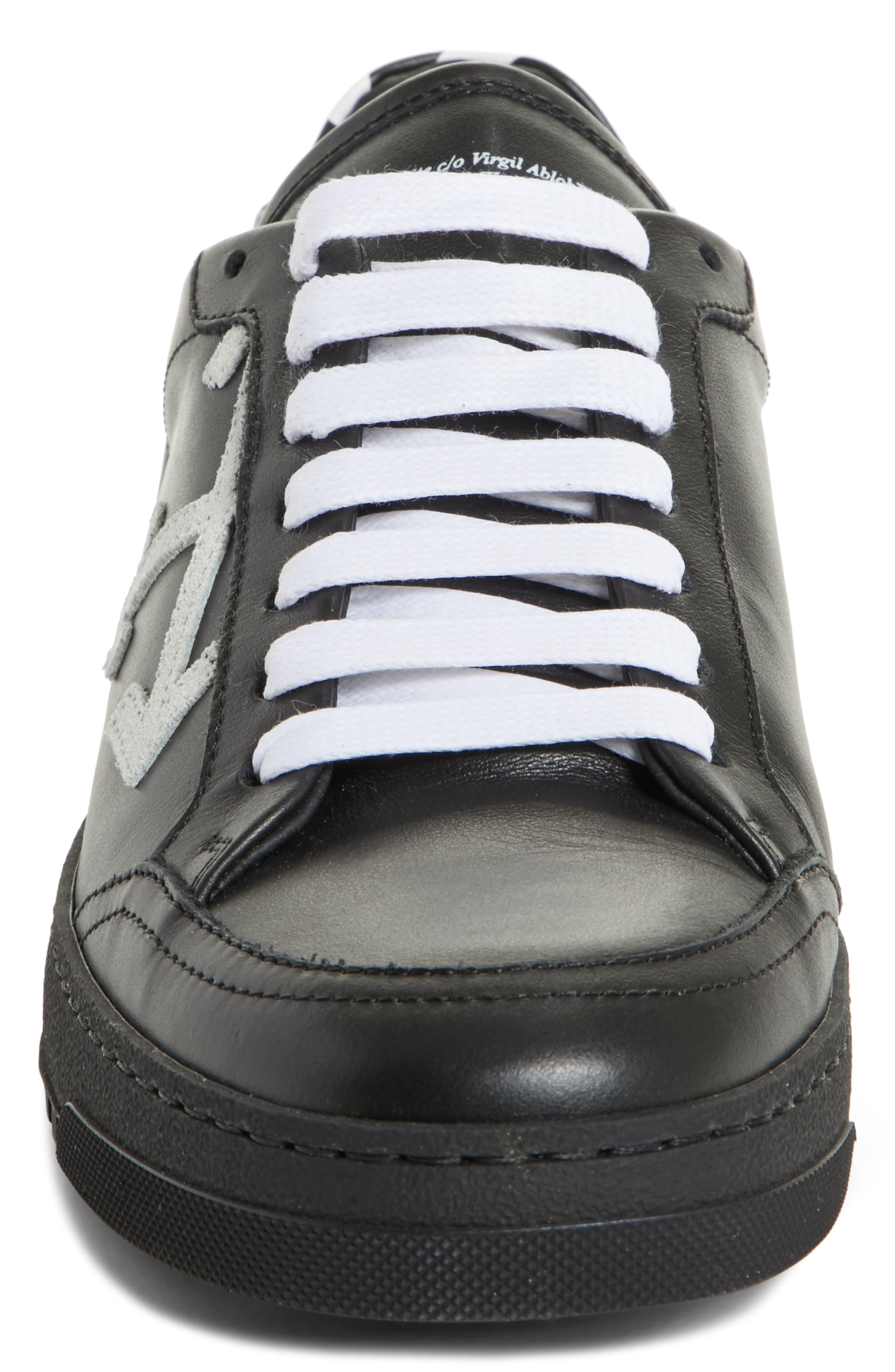 Arrow Sneaker,                             Alternate thumbnail 4, color,                             Black White
